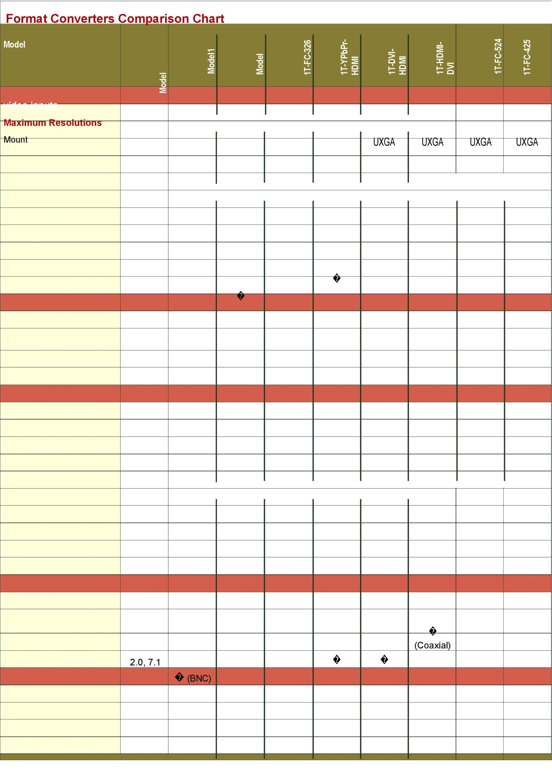 Great Comparison Chart Templates For Any Situation  Template Lab