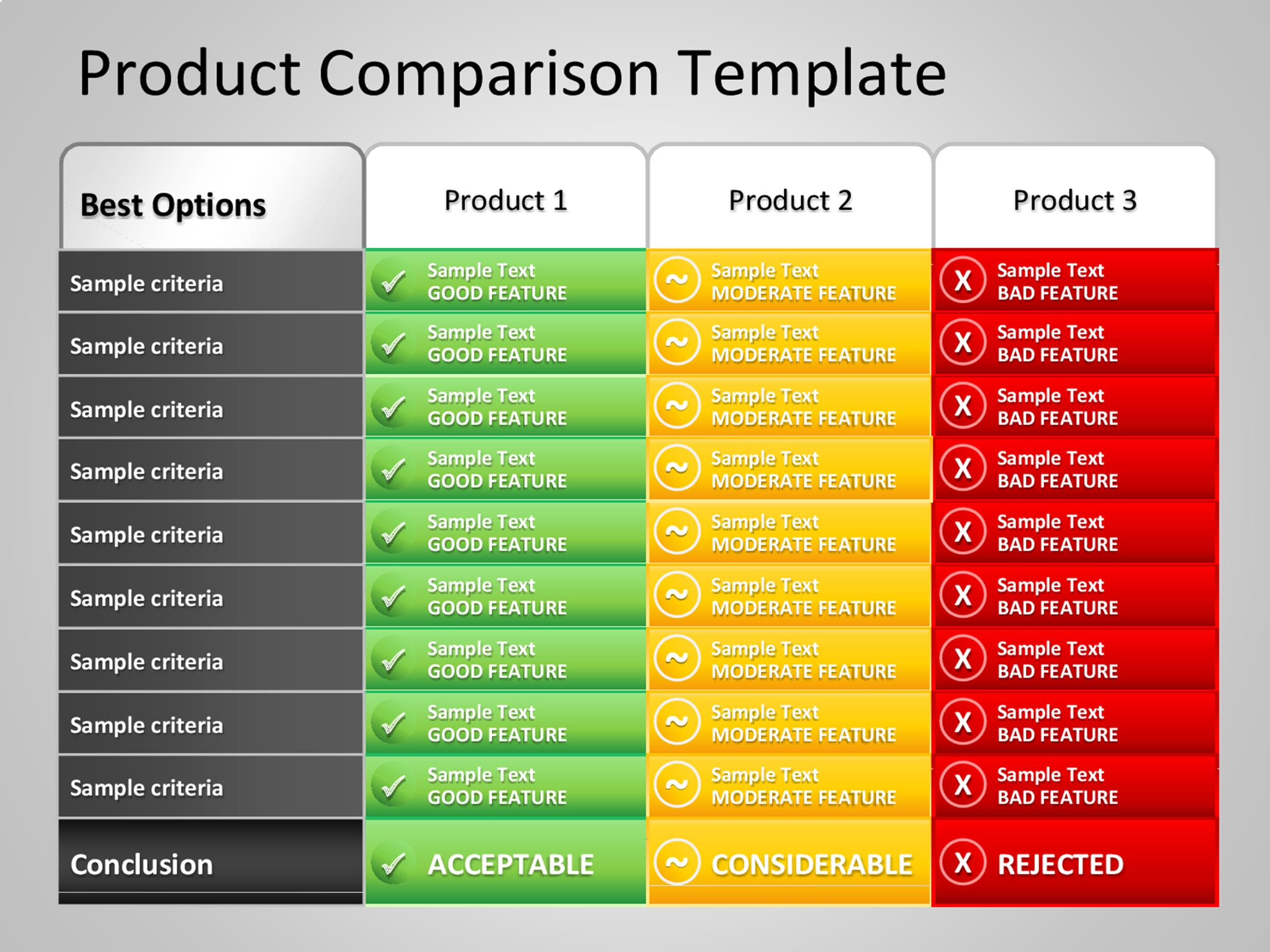 40 Great Comparison Chart Templates for ANY Situation