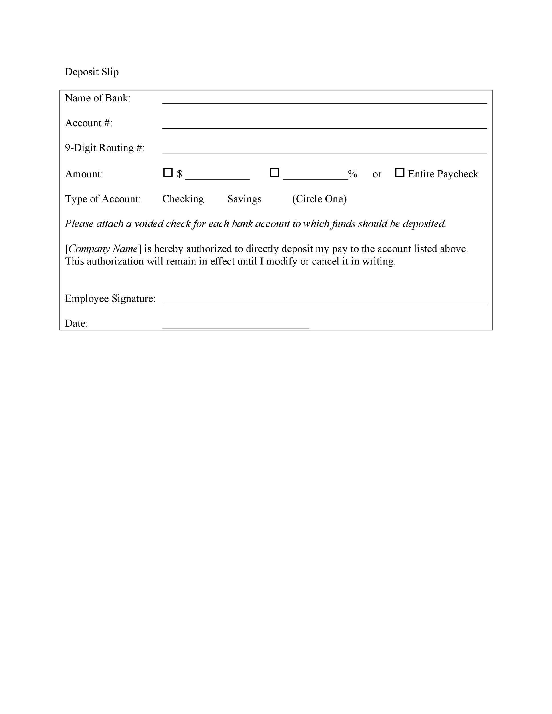 Free Deposit Slip Template 02