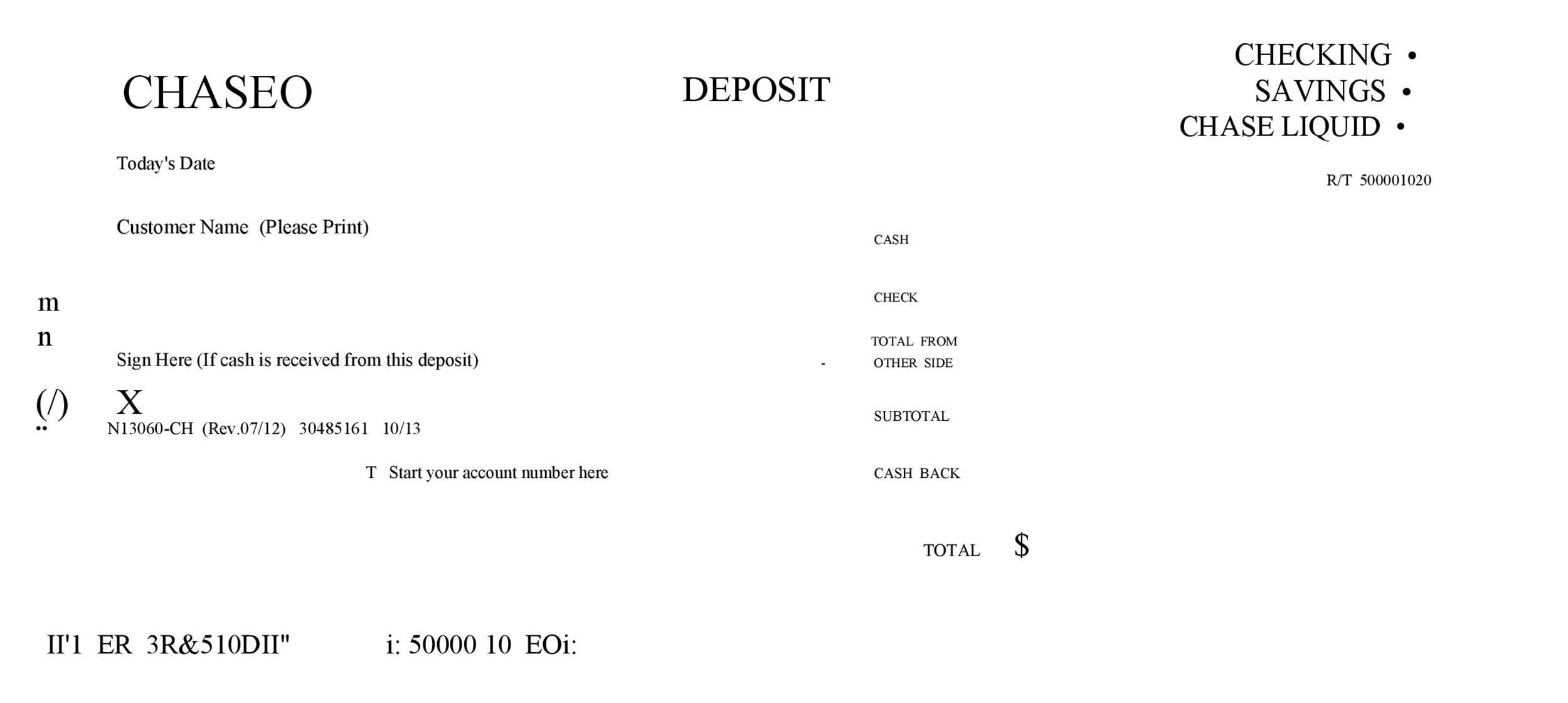 Free Deposit Slip Template 06