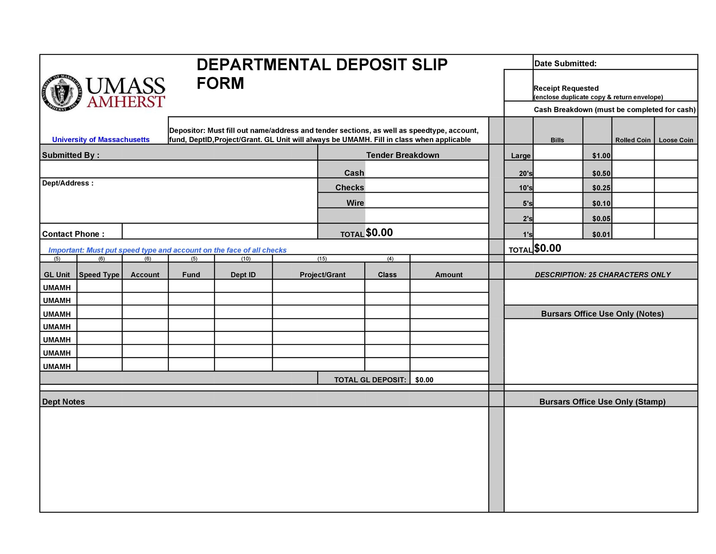 37 Bank Deposit Slip Templates & Examples ᐅ Template Lab