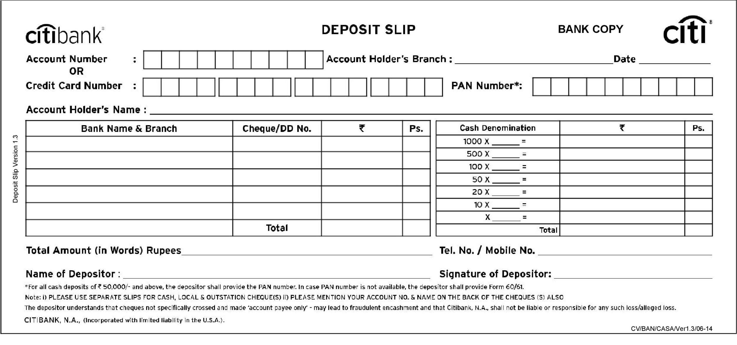 Free Deposit Slip Template 25