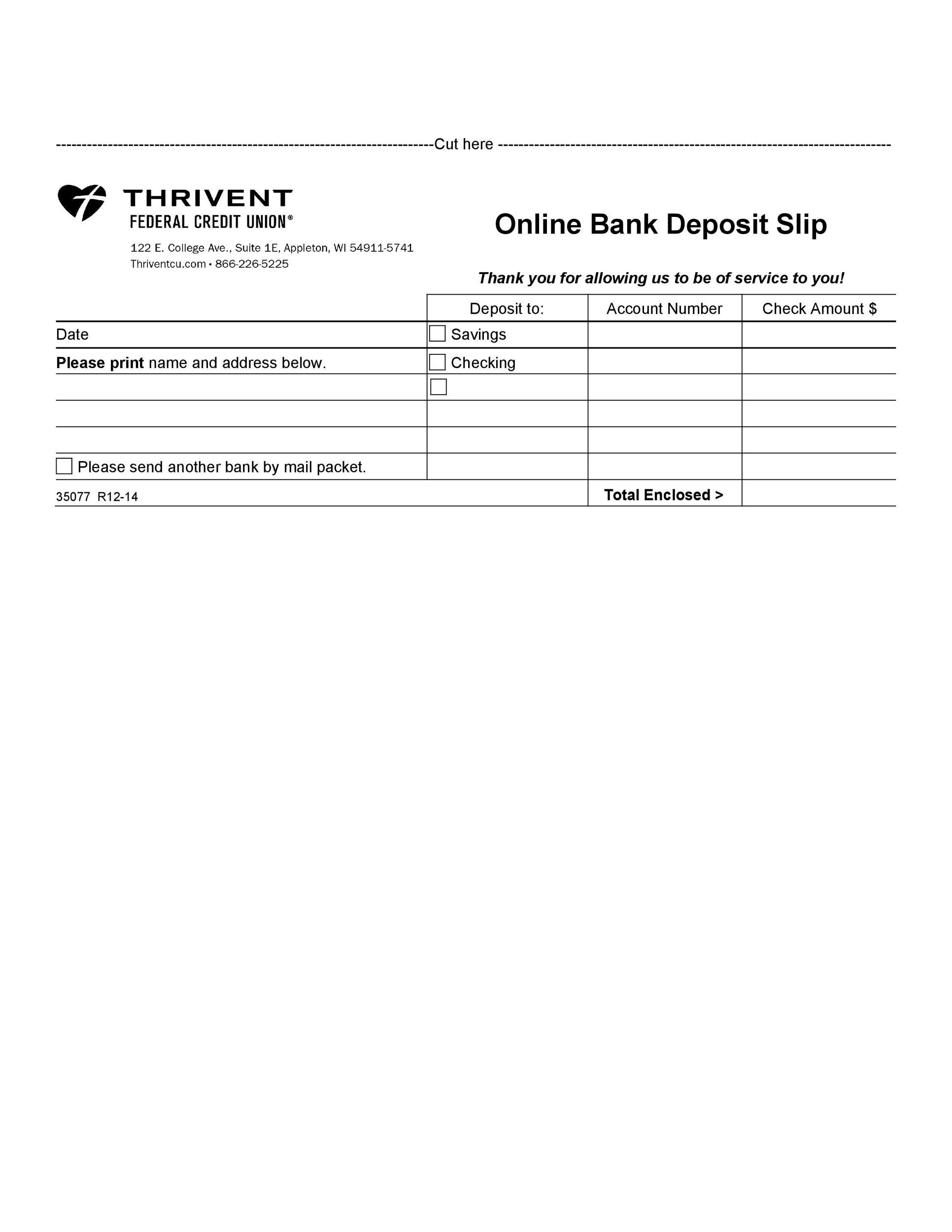 Free Deposit Slip Template 27