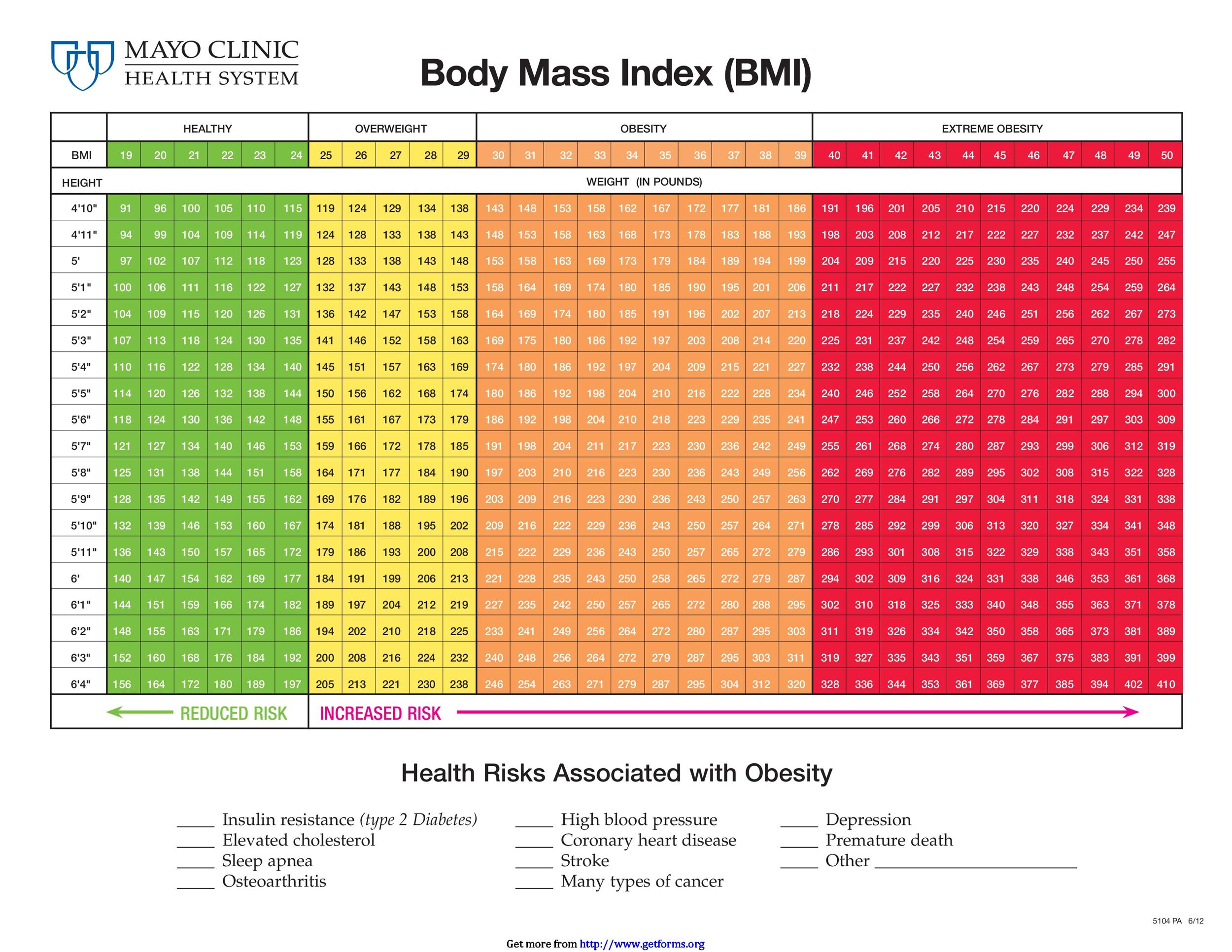 36 Free Bmi Chart Templates For Women Men Or Kids Template Lab