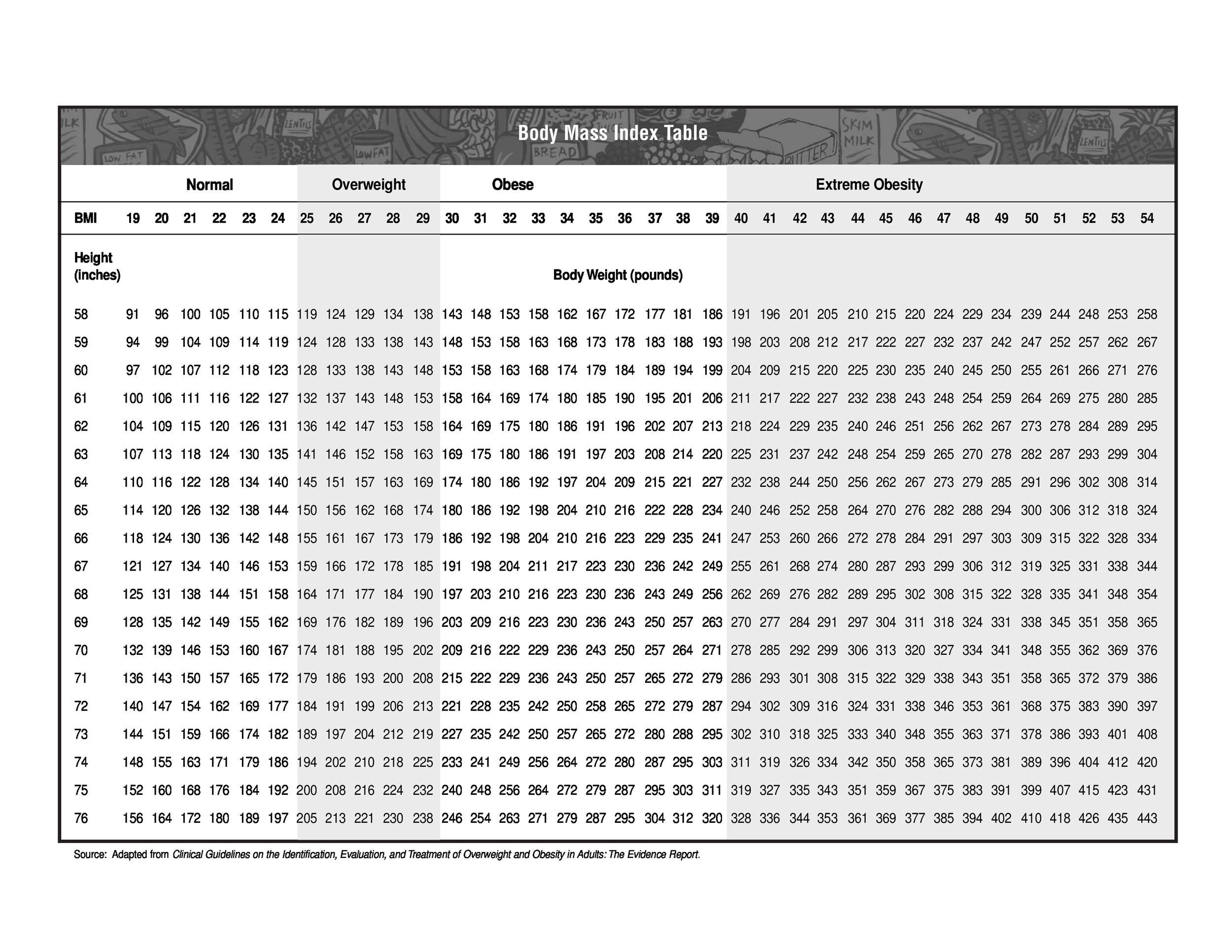 Free bmi chart 09