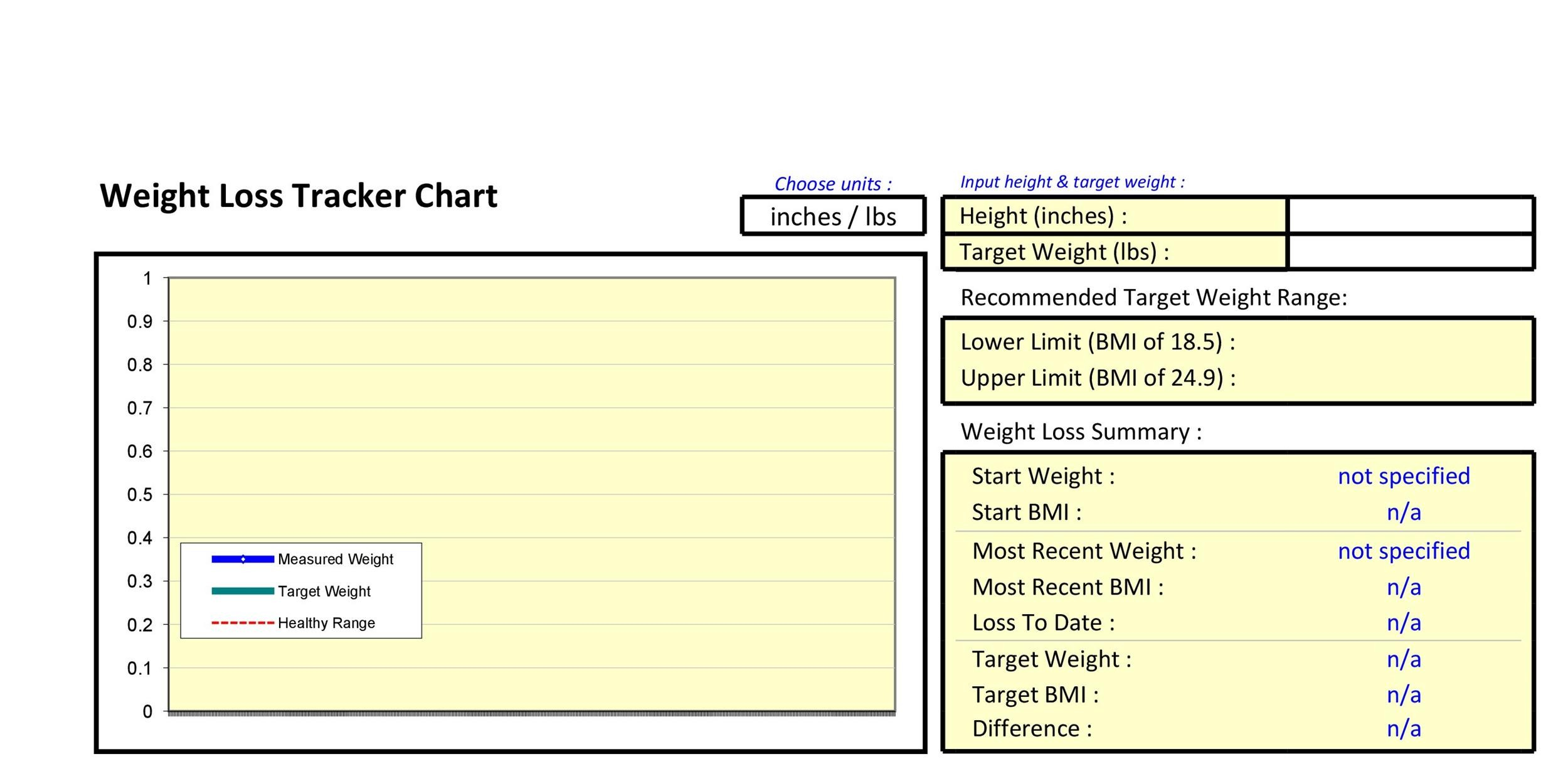Free bmi chart 26