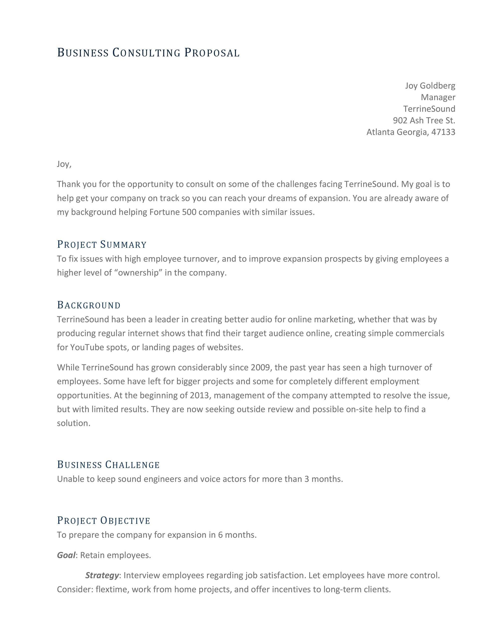 free consulting proposal template 01