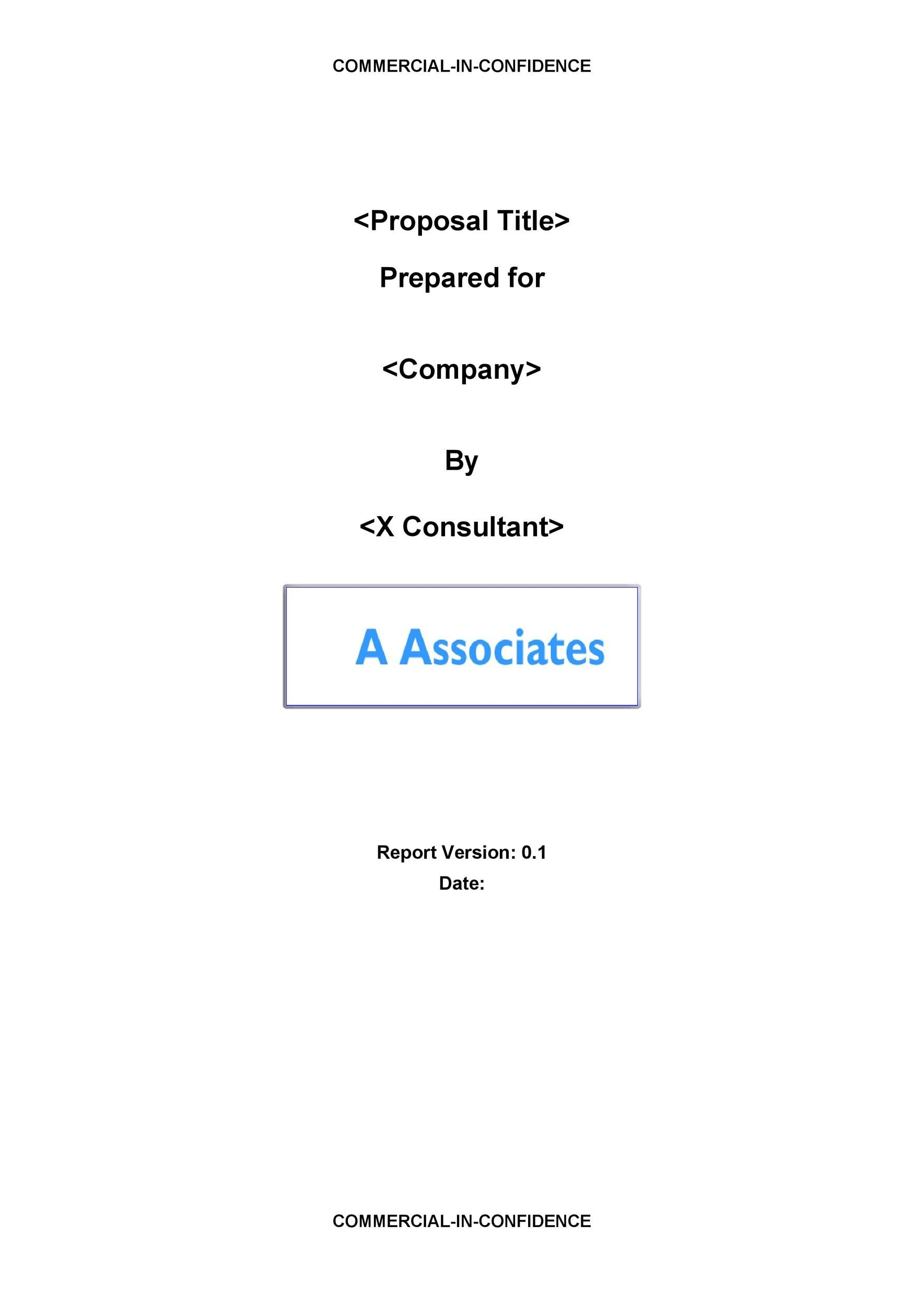 Free consulting proposal template 02