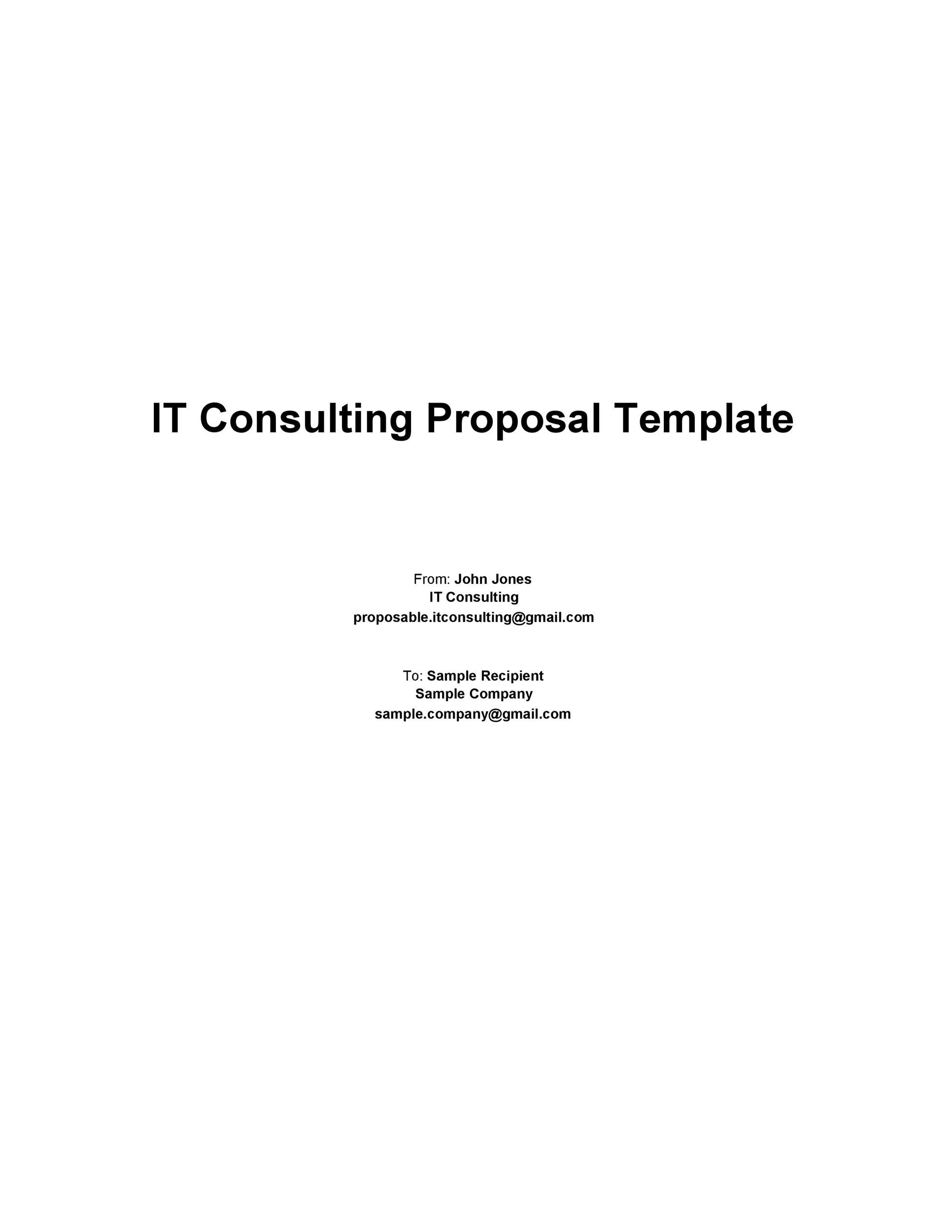 Free consulting proposal template 06