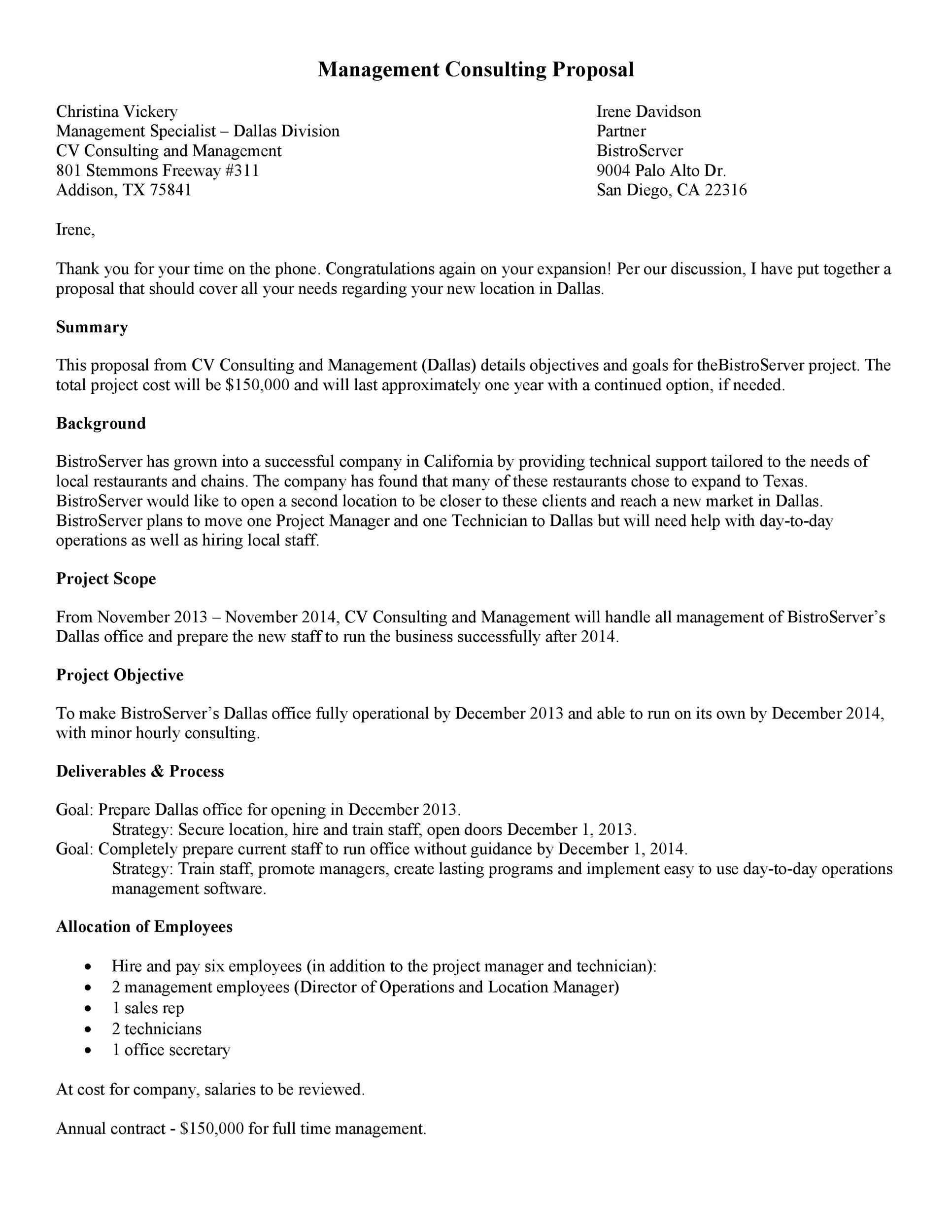 Free consulting proposal template 10