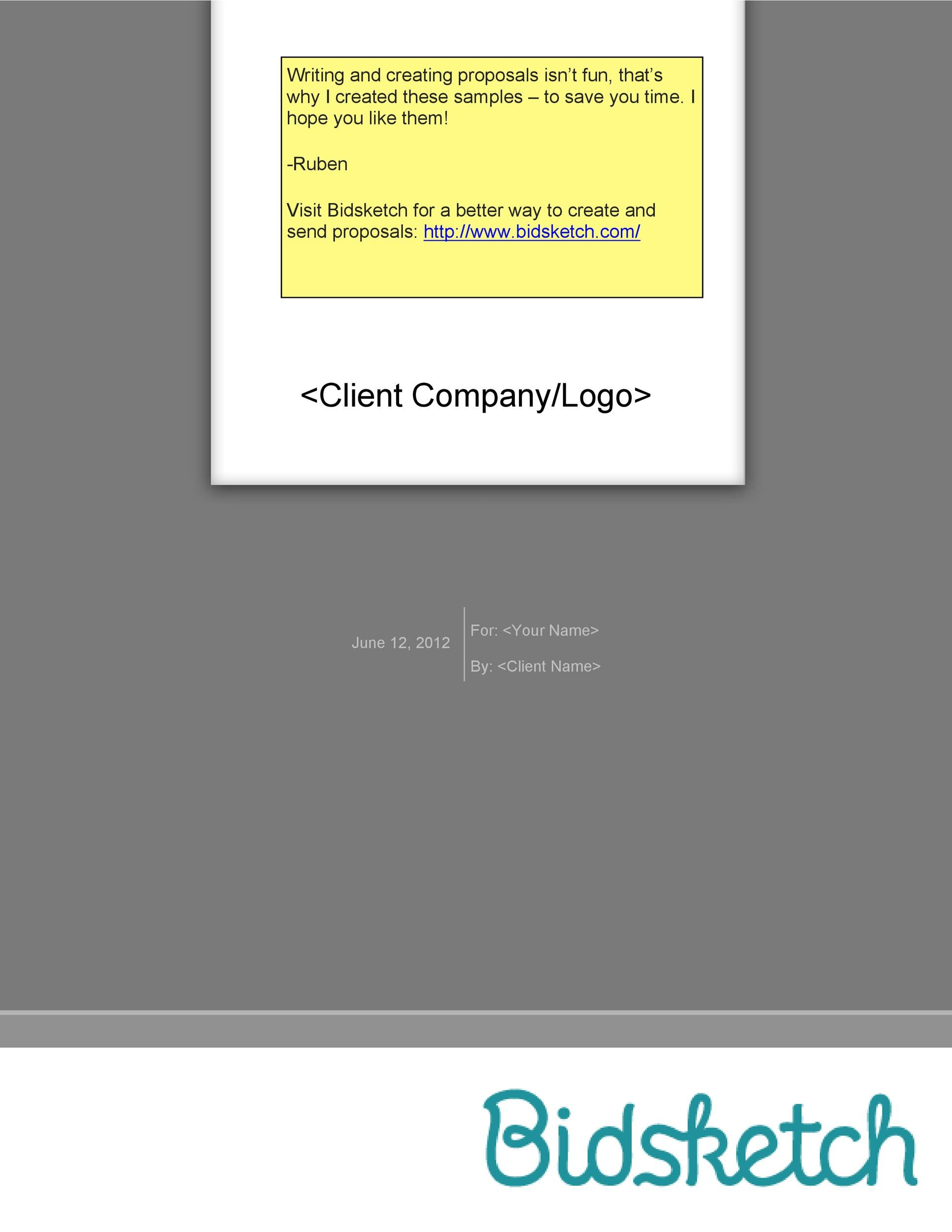 Free consulting proposal template 13