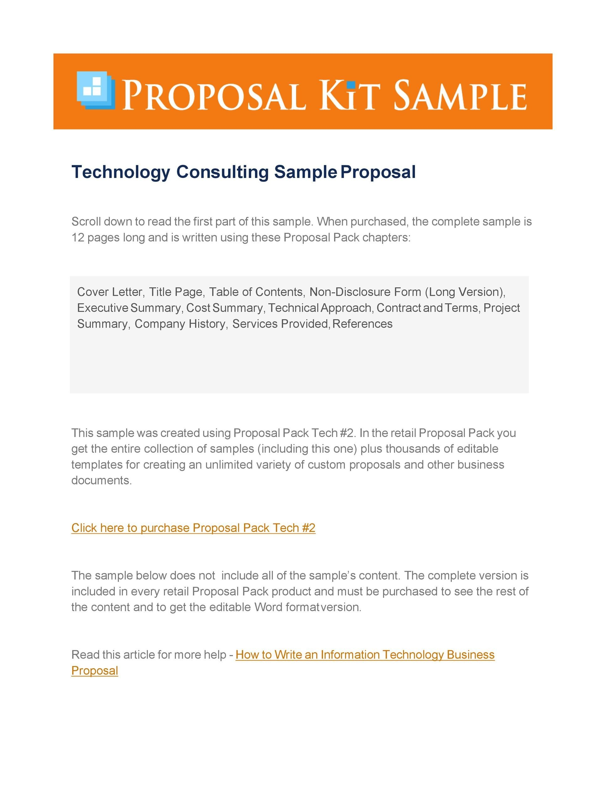 Free consulting proposal template 14