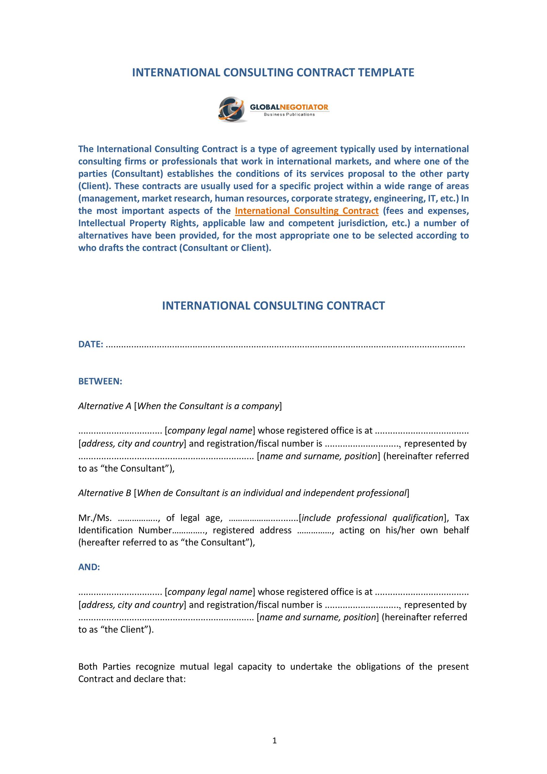 Free consulting proposal template 21