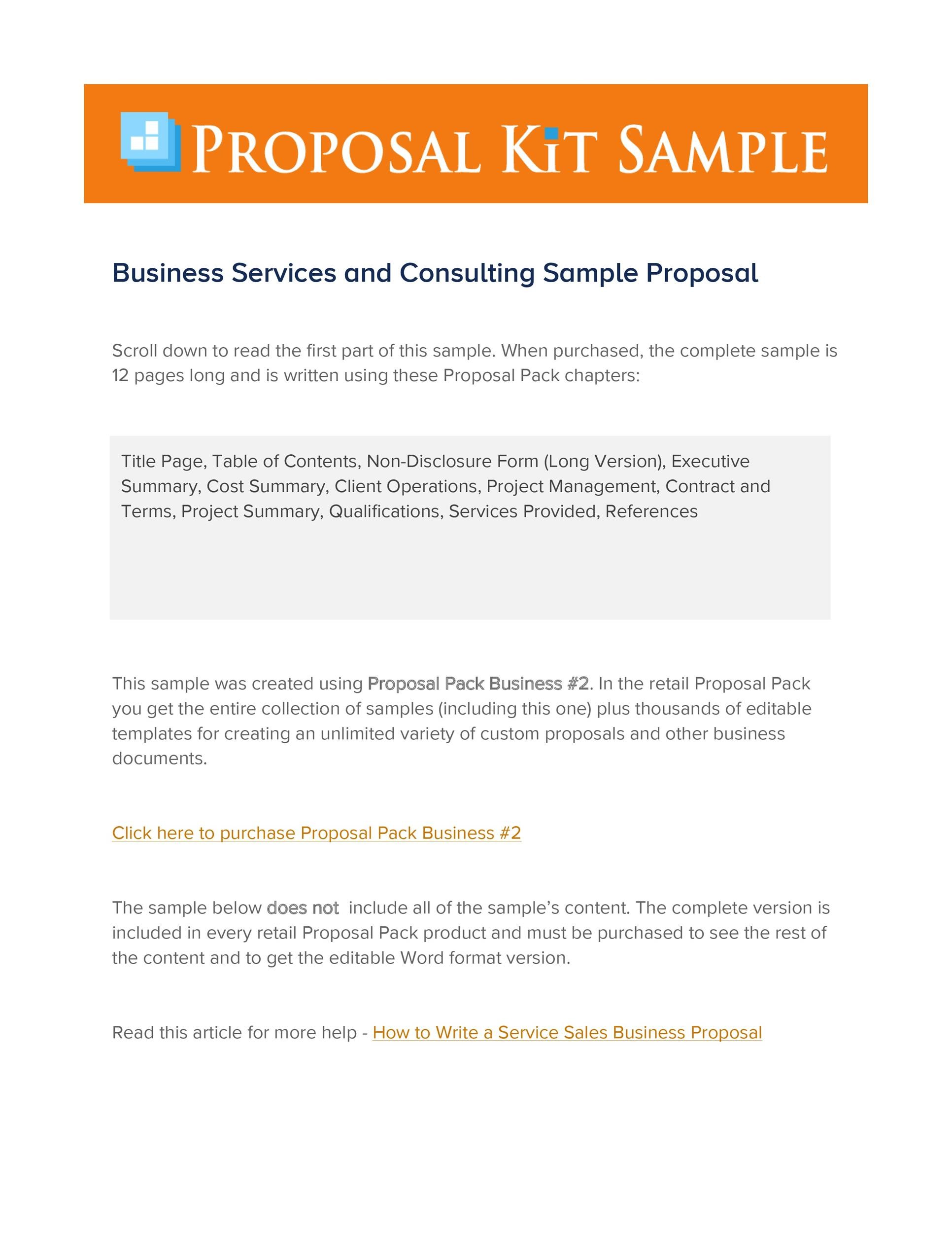 Free consulting proposal template 23