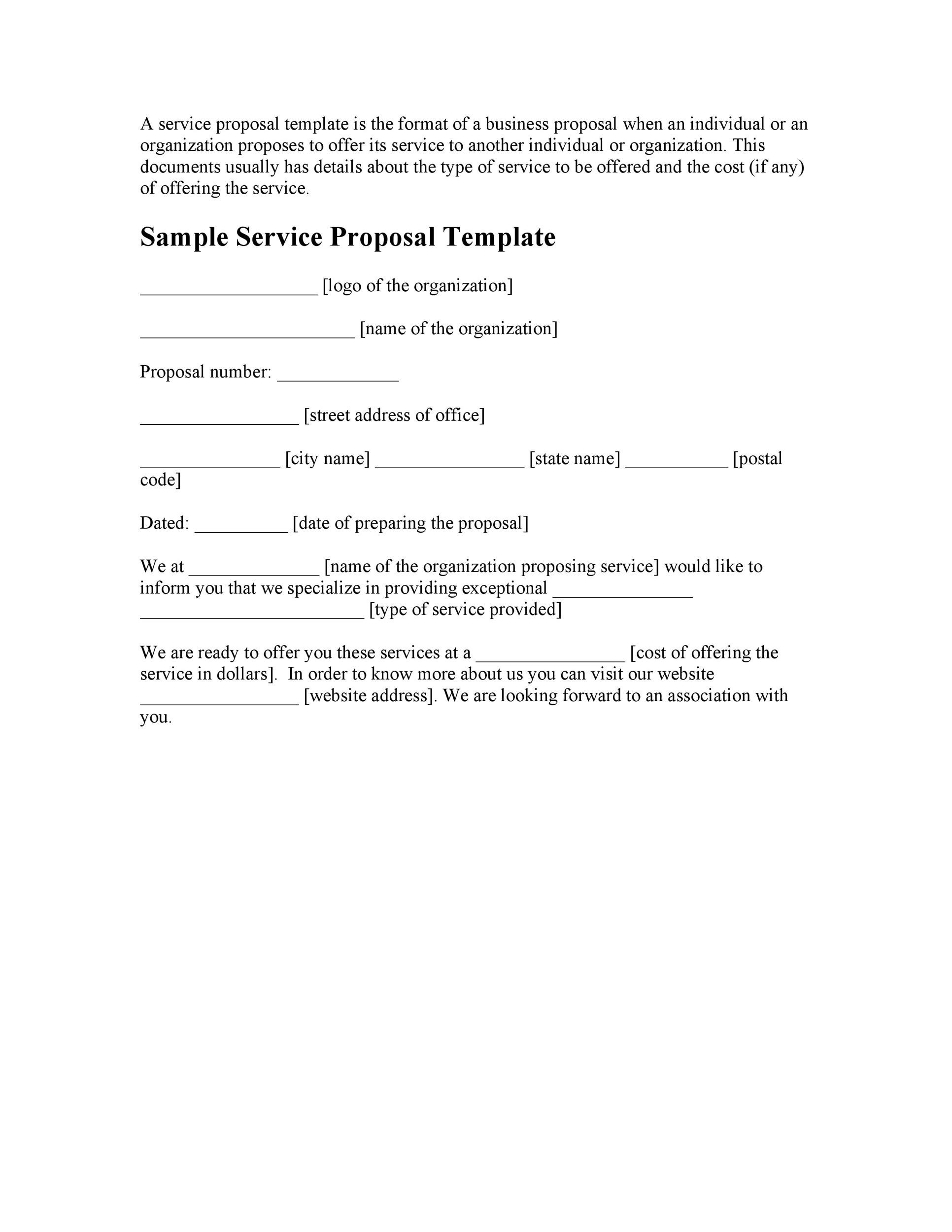 Free consulting proposal template 32