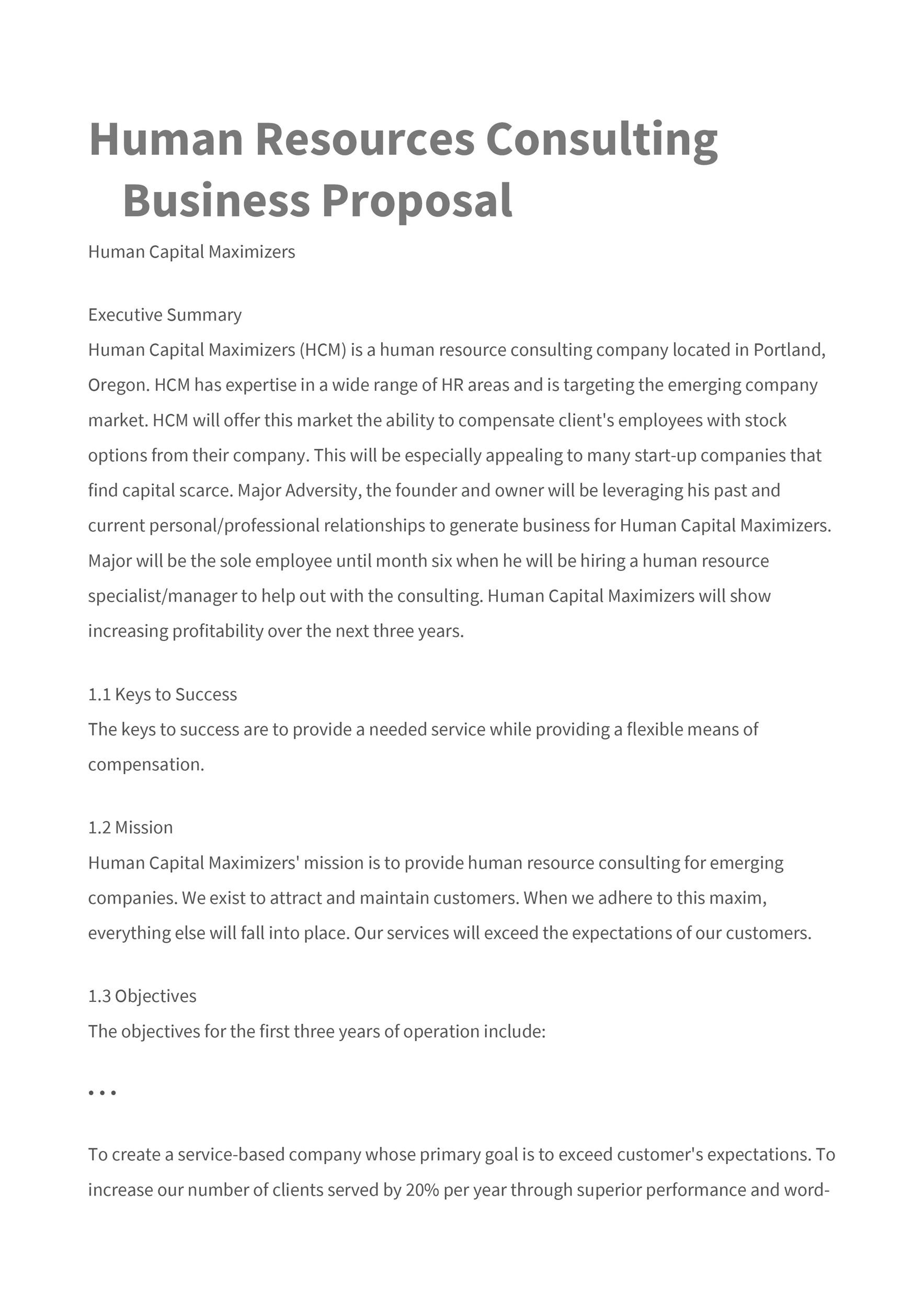 free consulting proposal template 33