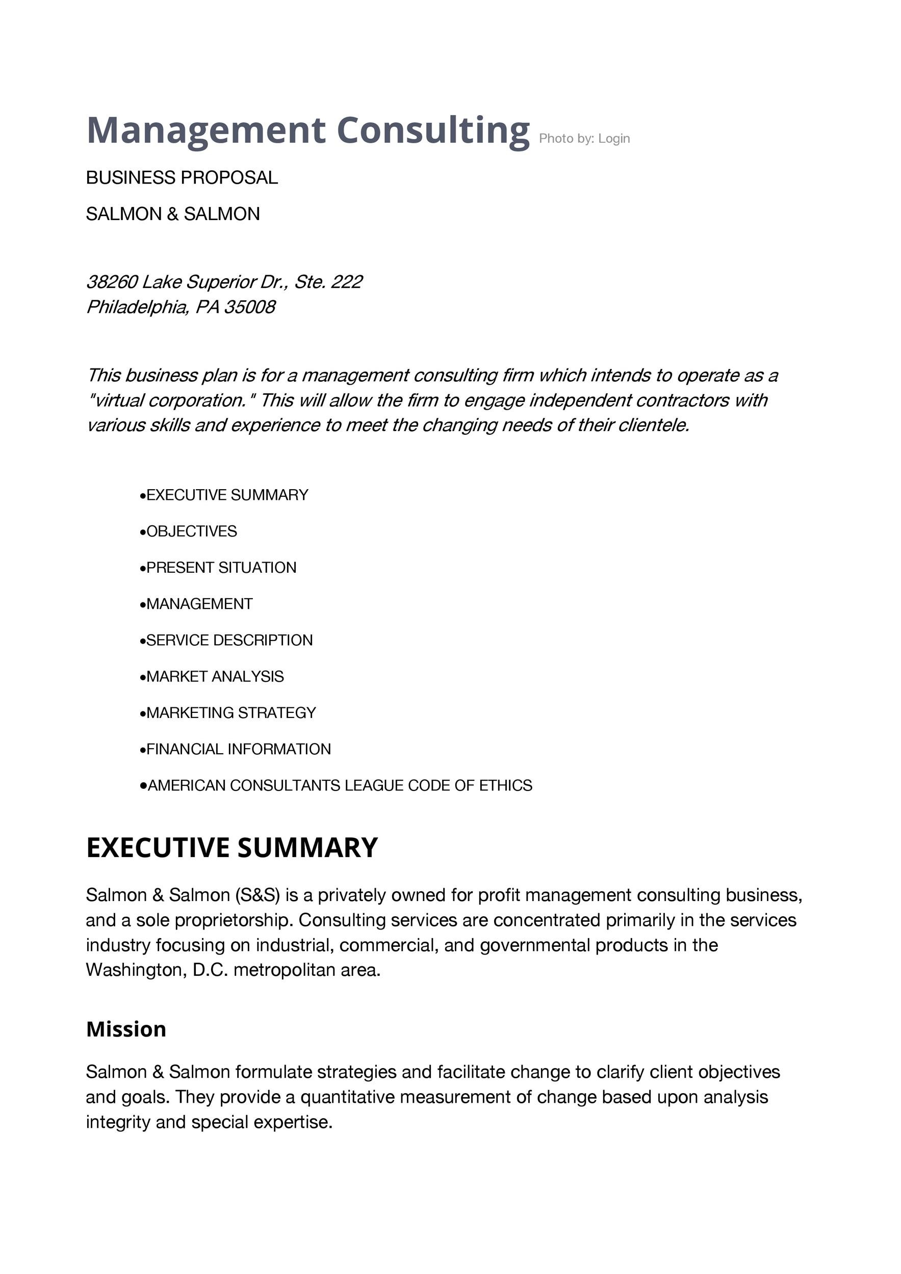 Free consulting proposal template 34