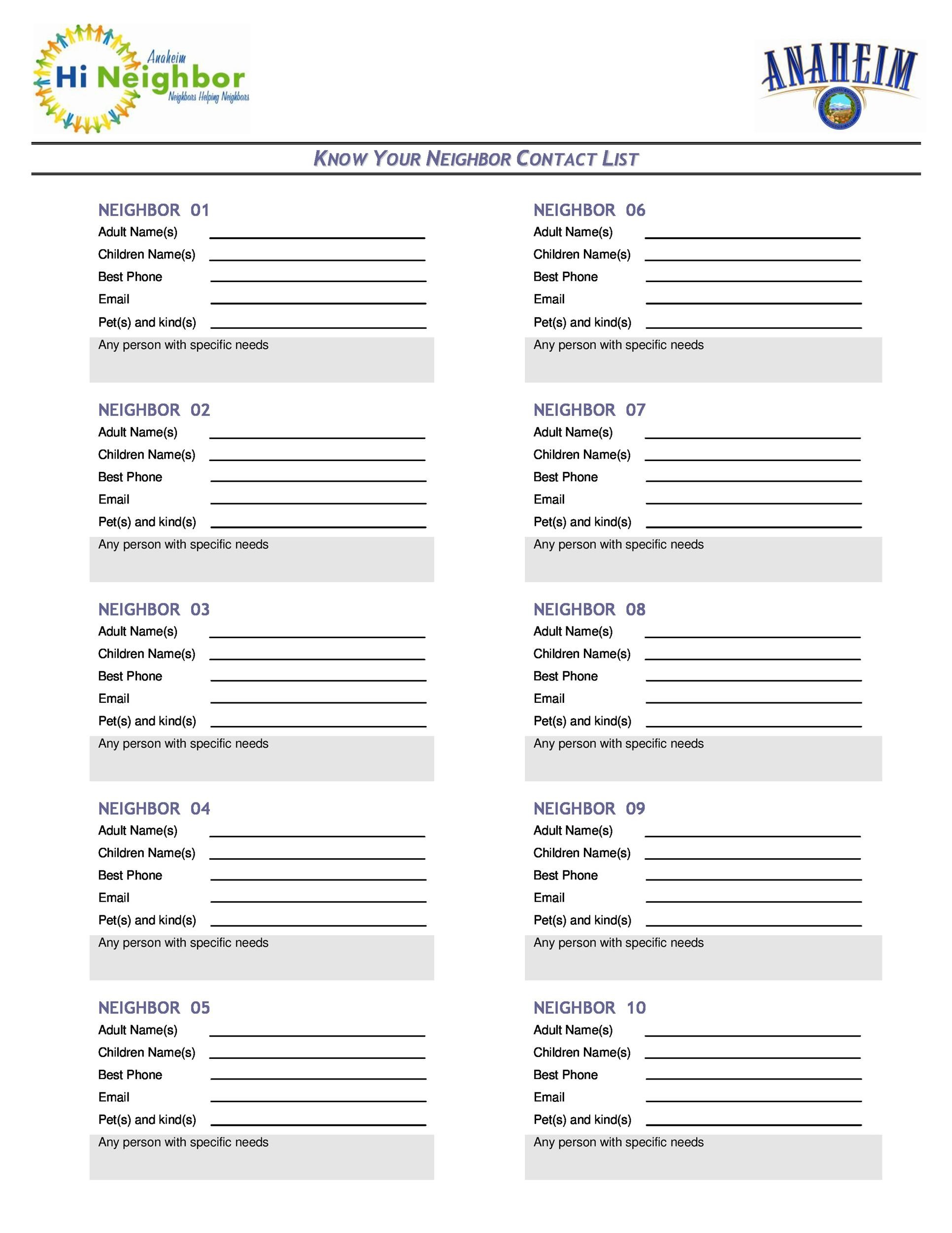 photograph about Printable Contact List named 40 Cell phone E-mail Make contact with Record Templates [Phrase, Excel] ᐅ