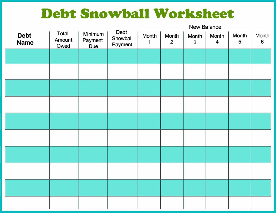snowball calculator excel template