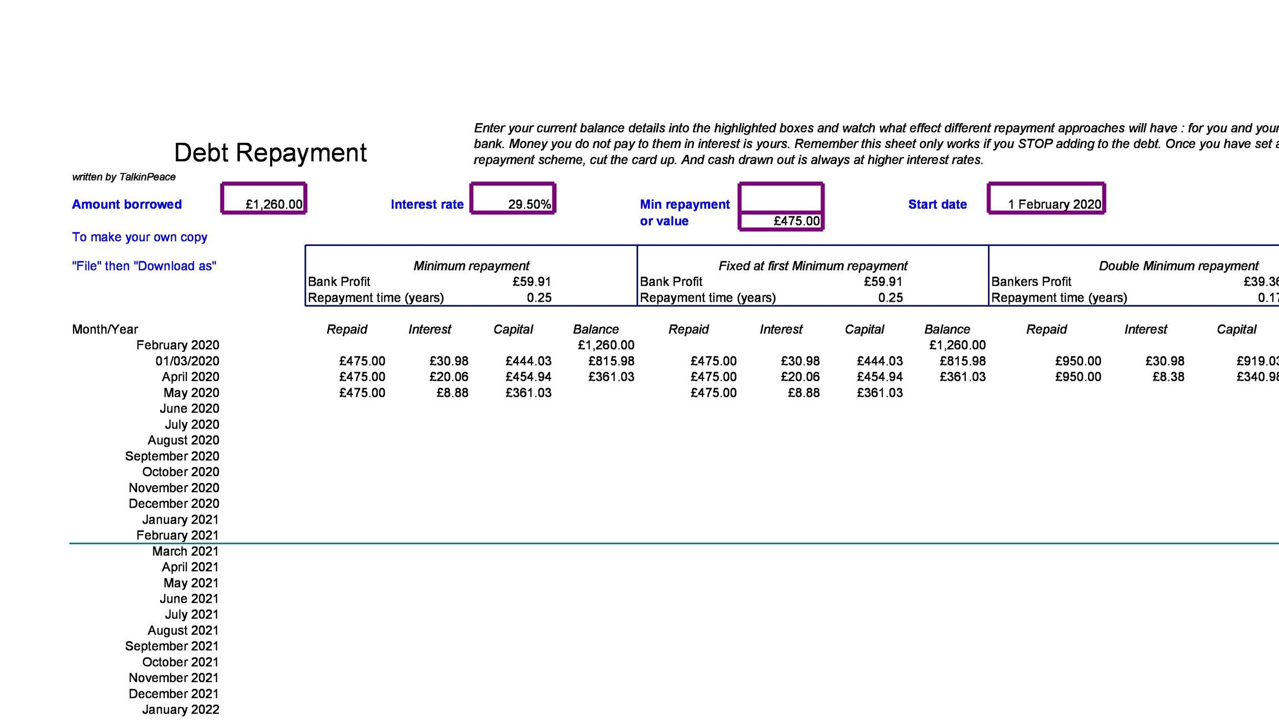 Free debt snowball spreadsheet 09