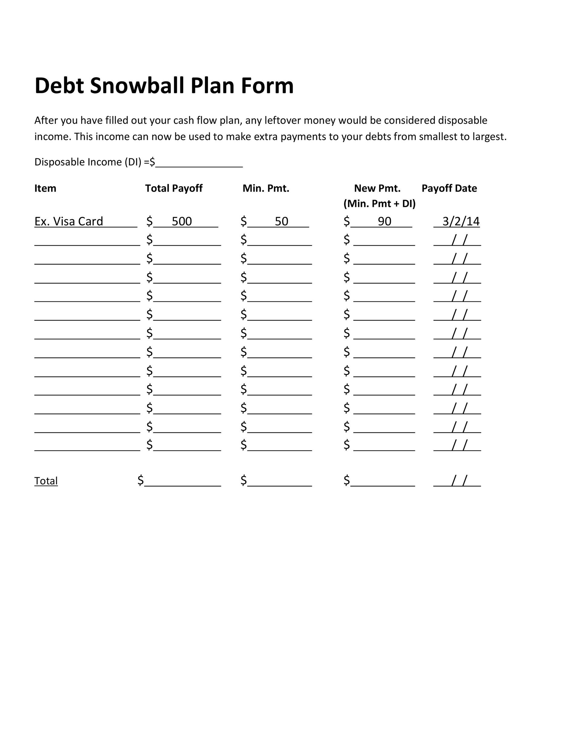Free debt snowball spreadsheet 22