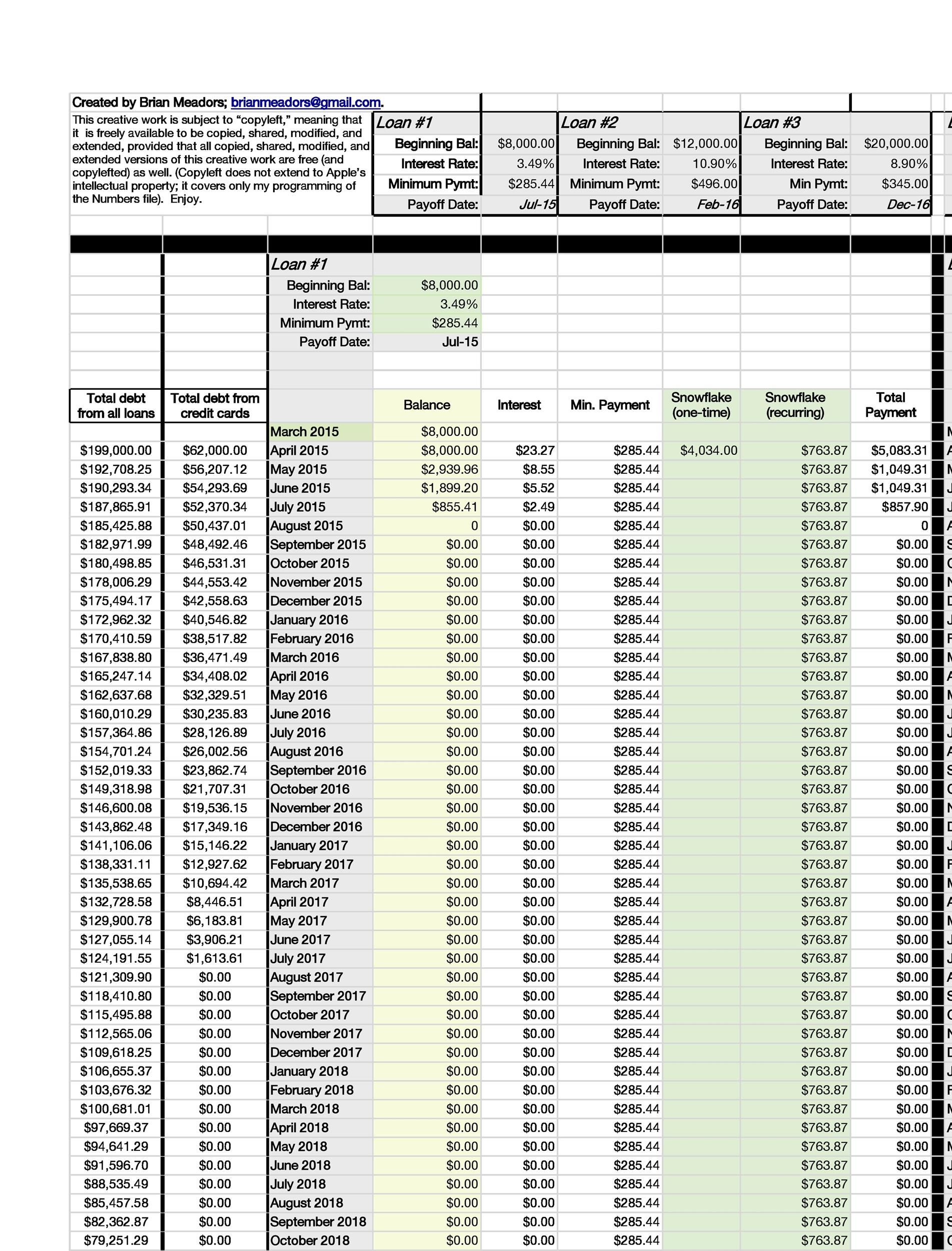 Free debt snowball spreadsheet 26