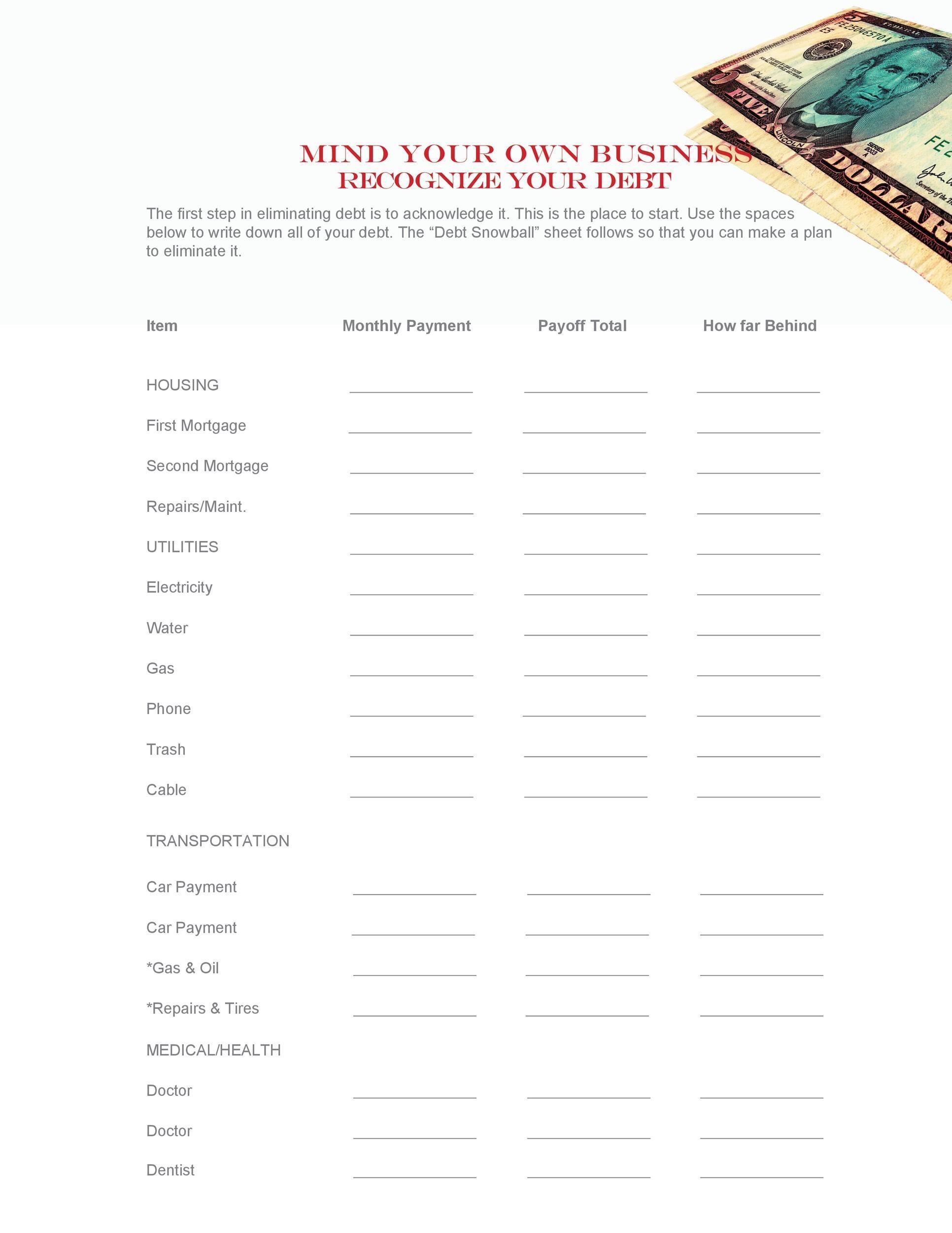 Free debt snowball spreadsheet 27
