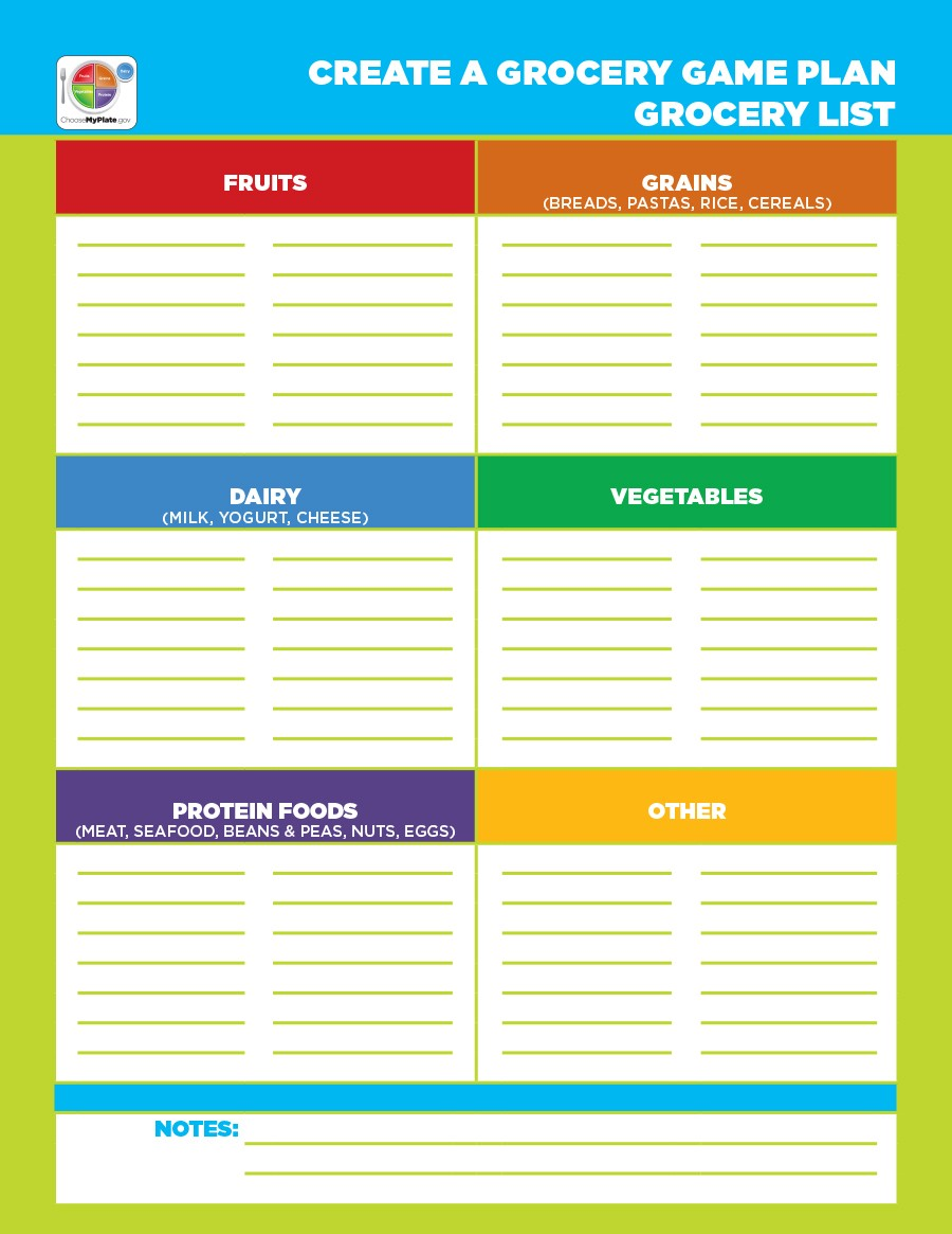 Free grocery list template 06