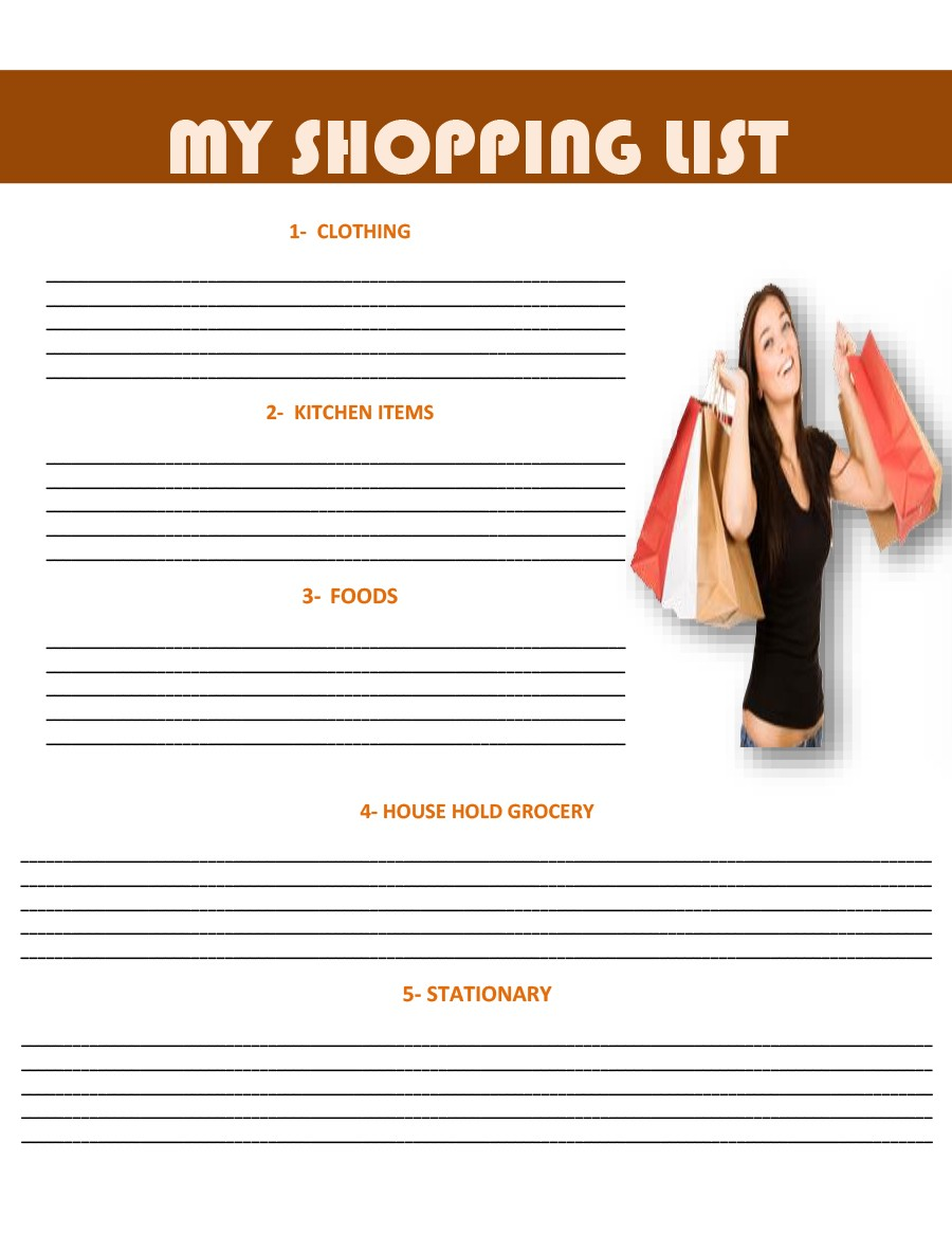 Free grocery list template 31