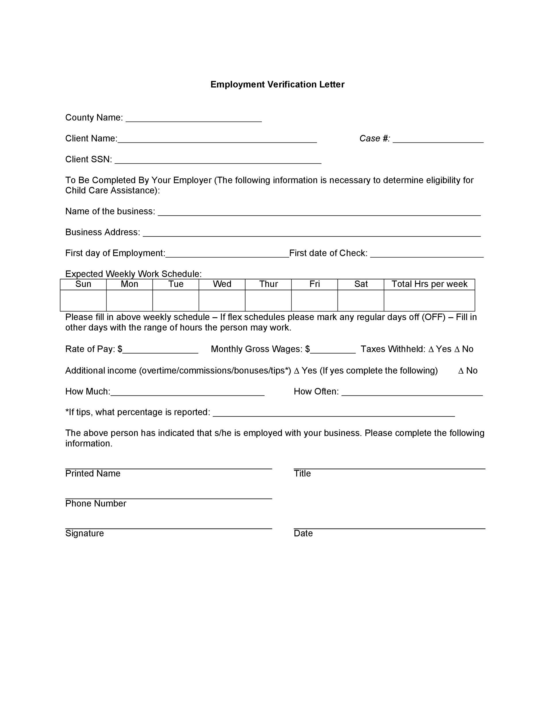 Free income verification letter 02