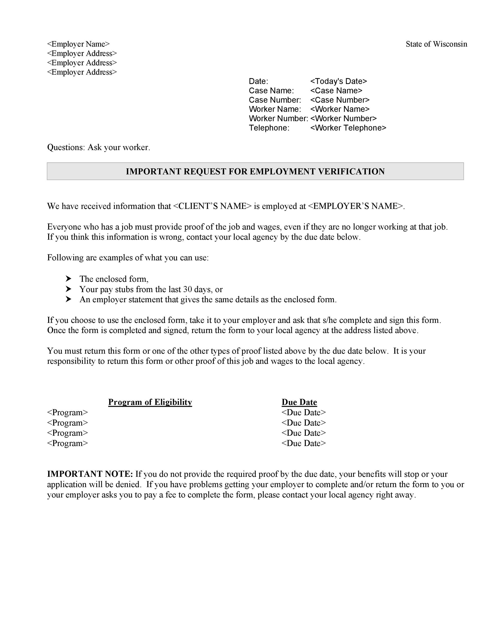 Superb Free Income Verification Letter 05
