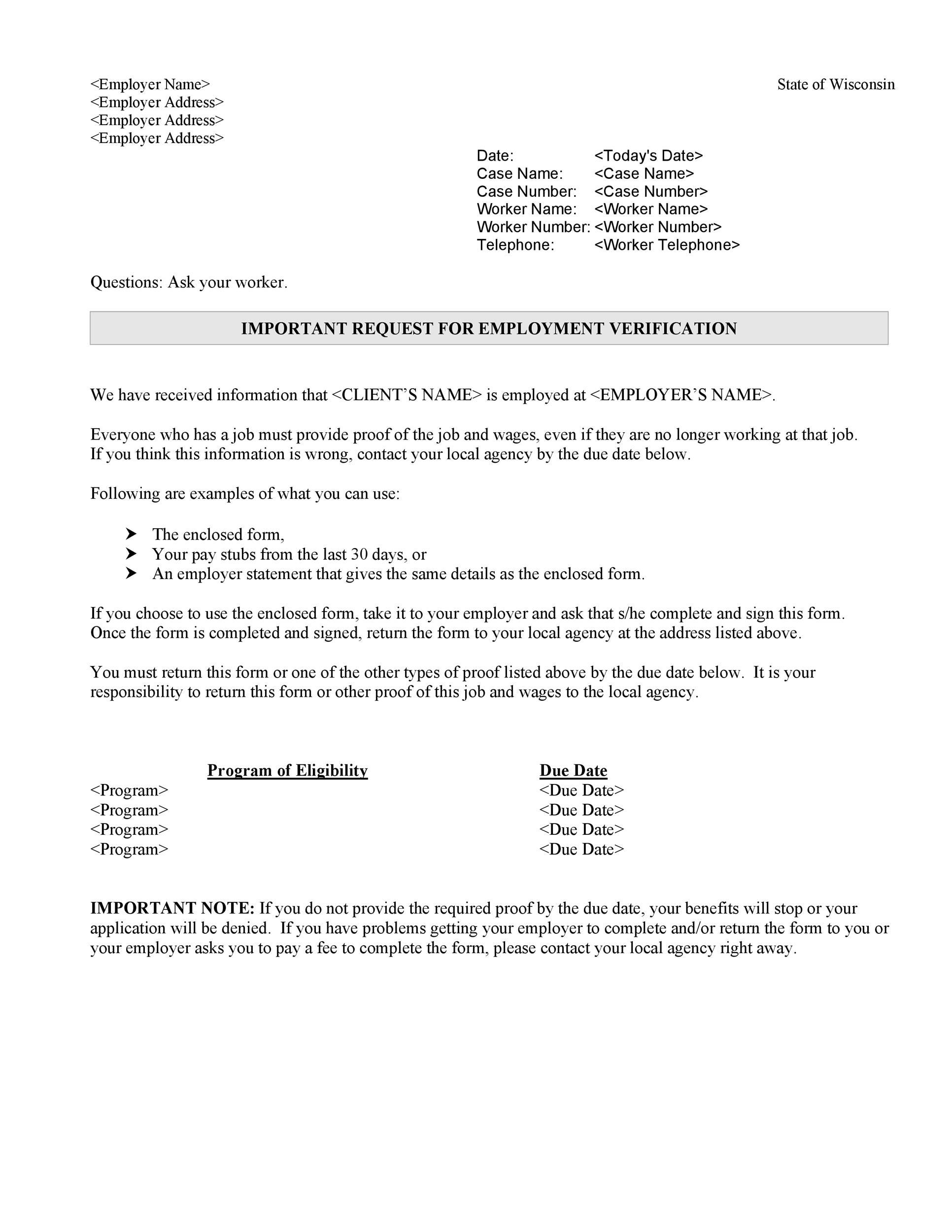 Free income verification letter 05