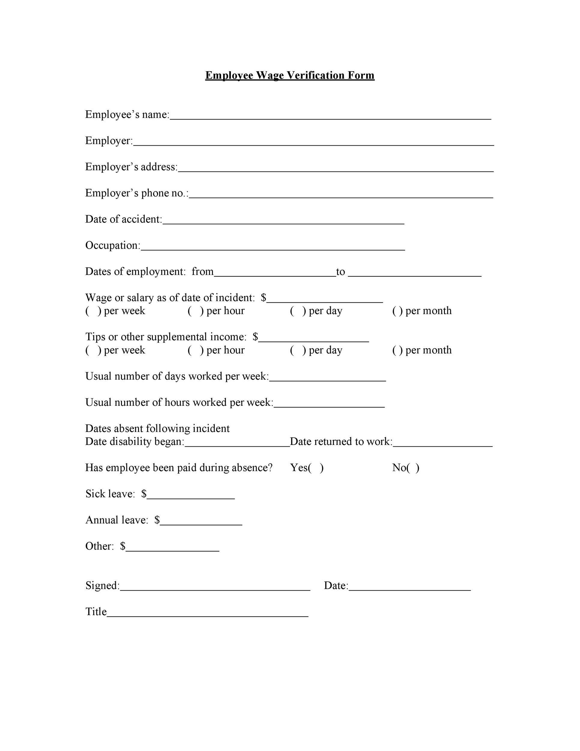 Free income verification letter 10