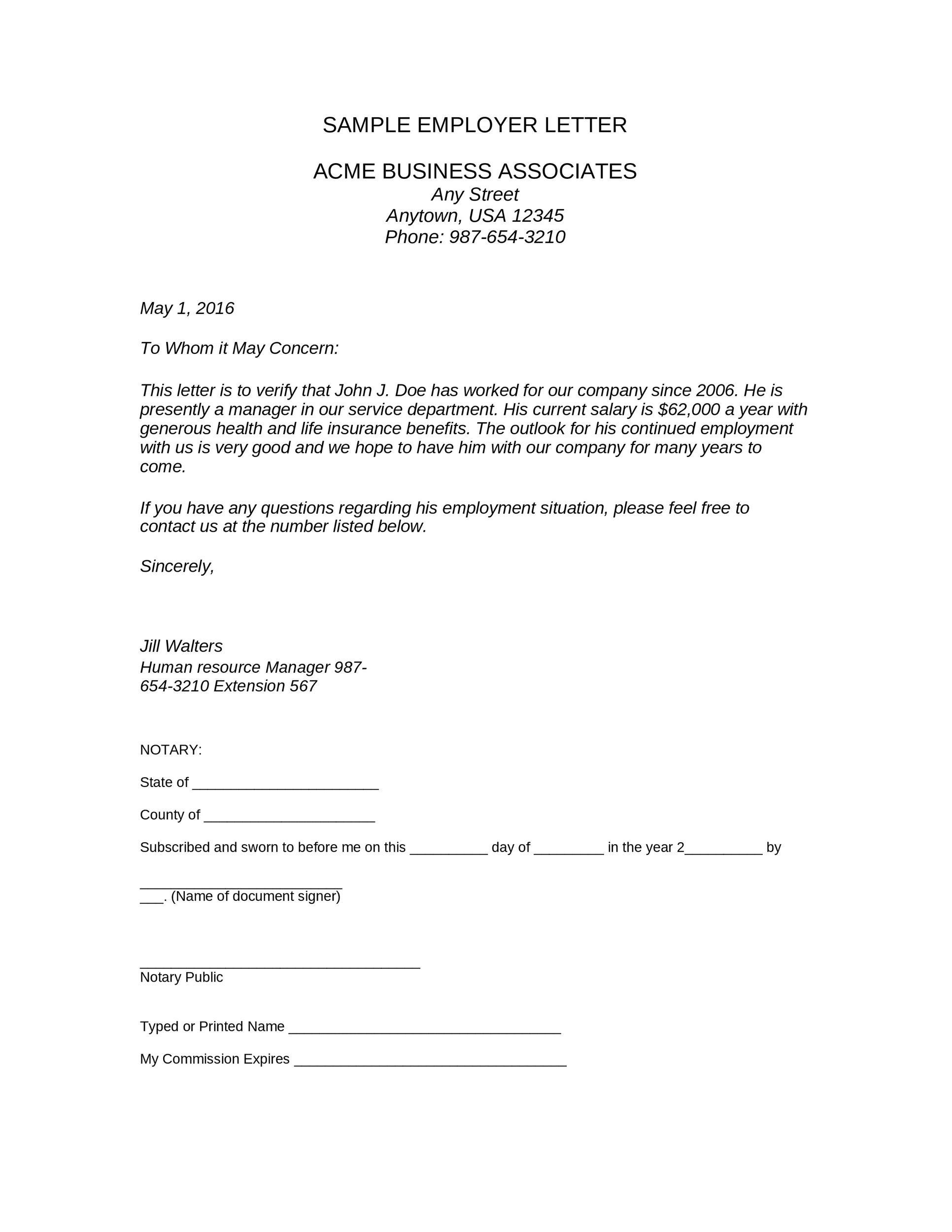 Free income verification letter 17