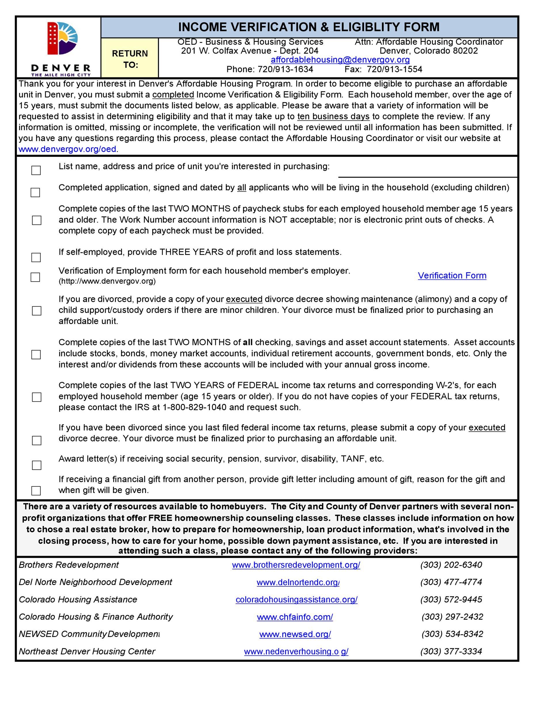 Free income verification letter 24