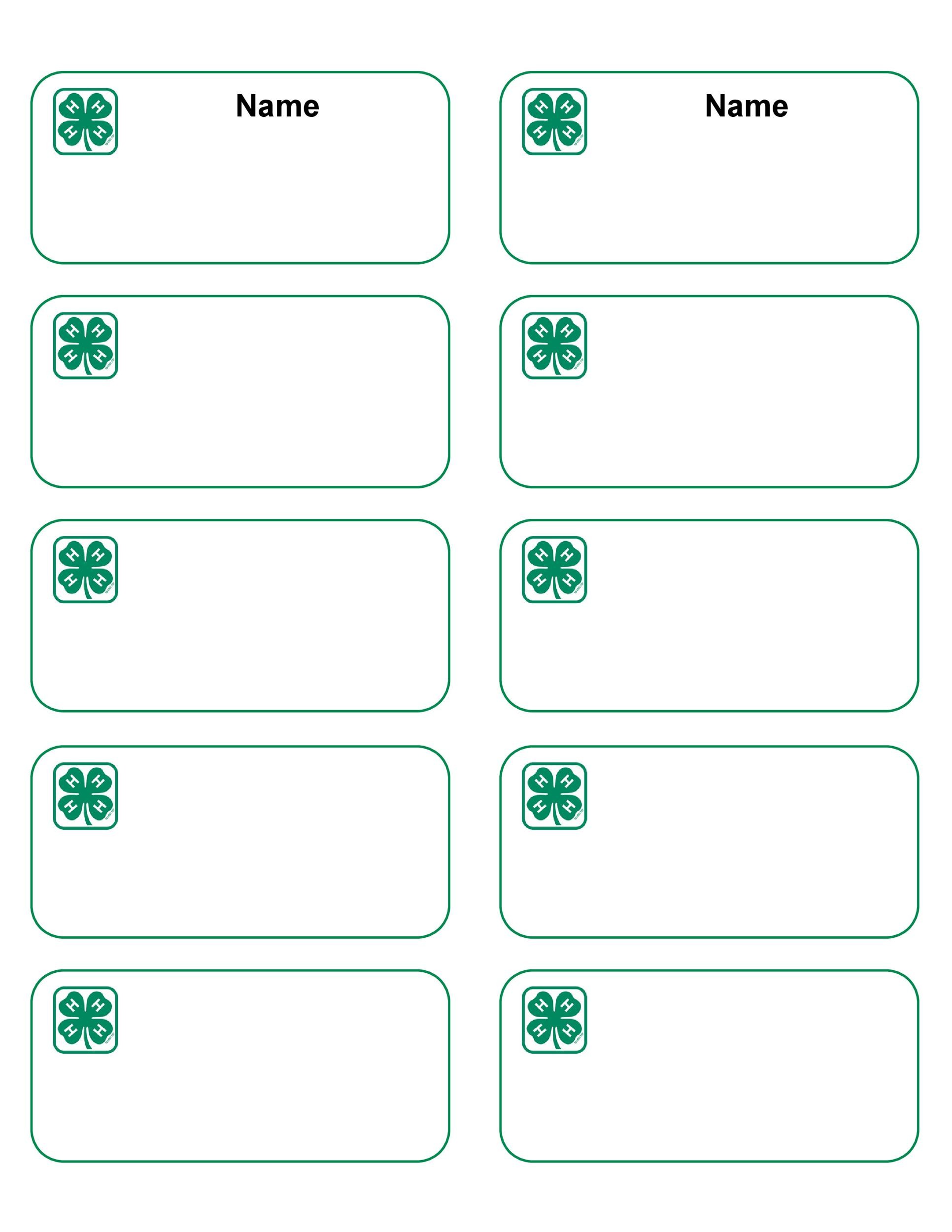 Delicate image throughout printable name tags templates