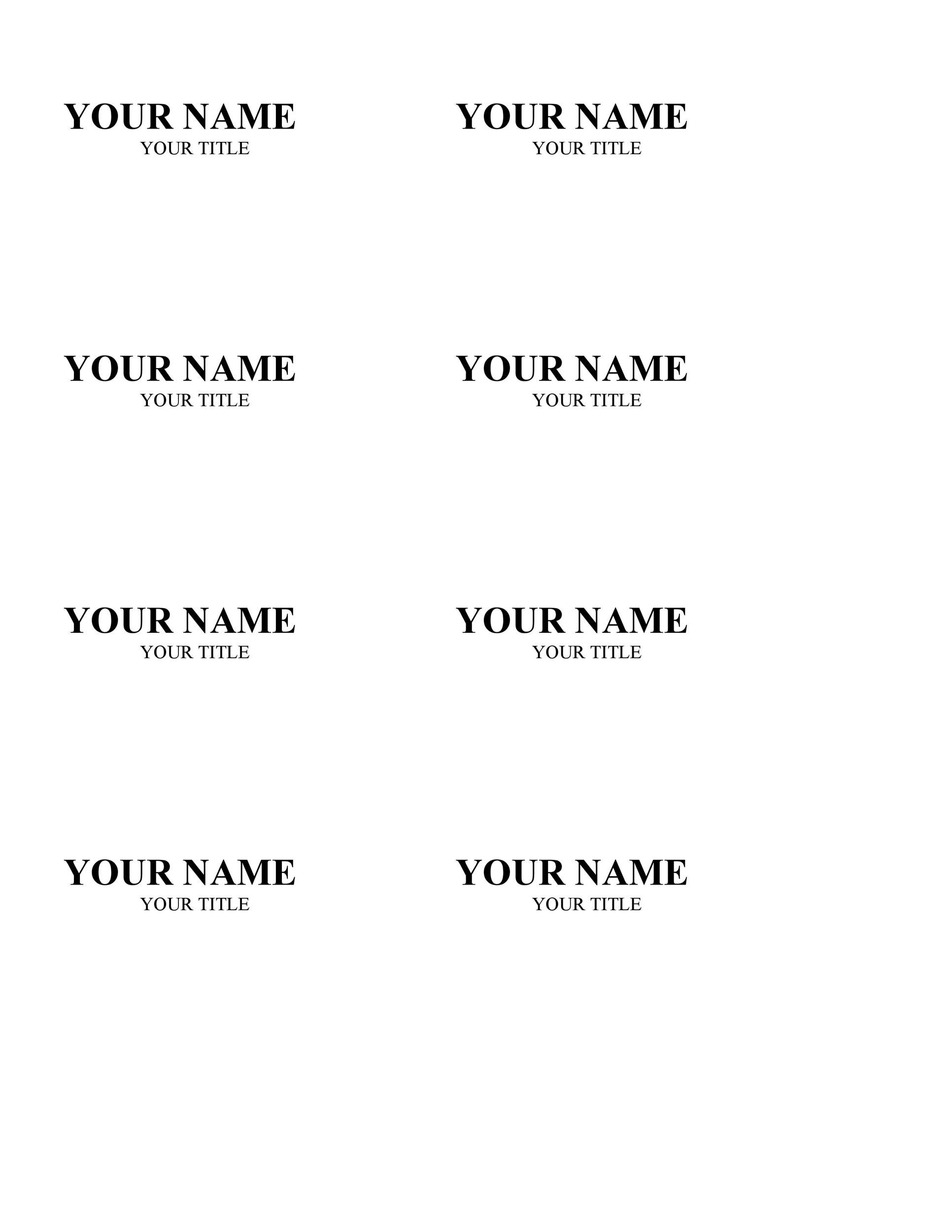 photo about Free Printable Name Tags known as 47 No cost Track record Tag + Badge Templates ᐅ Template Lab