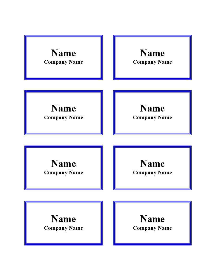 Free name tag template 06