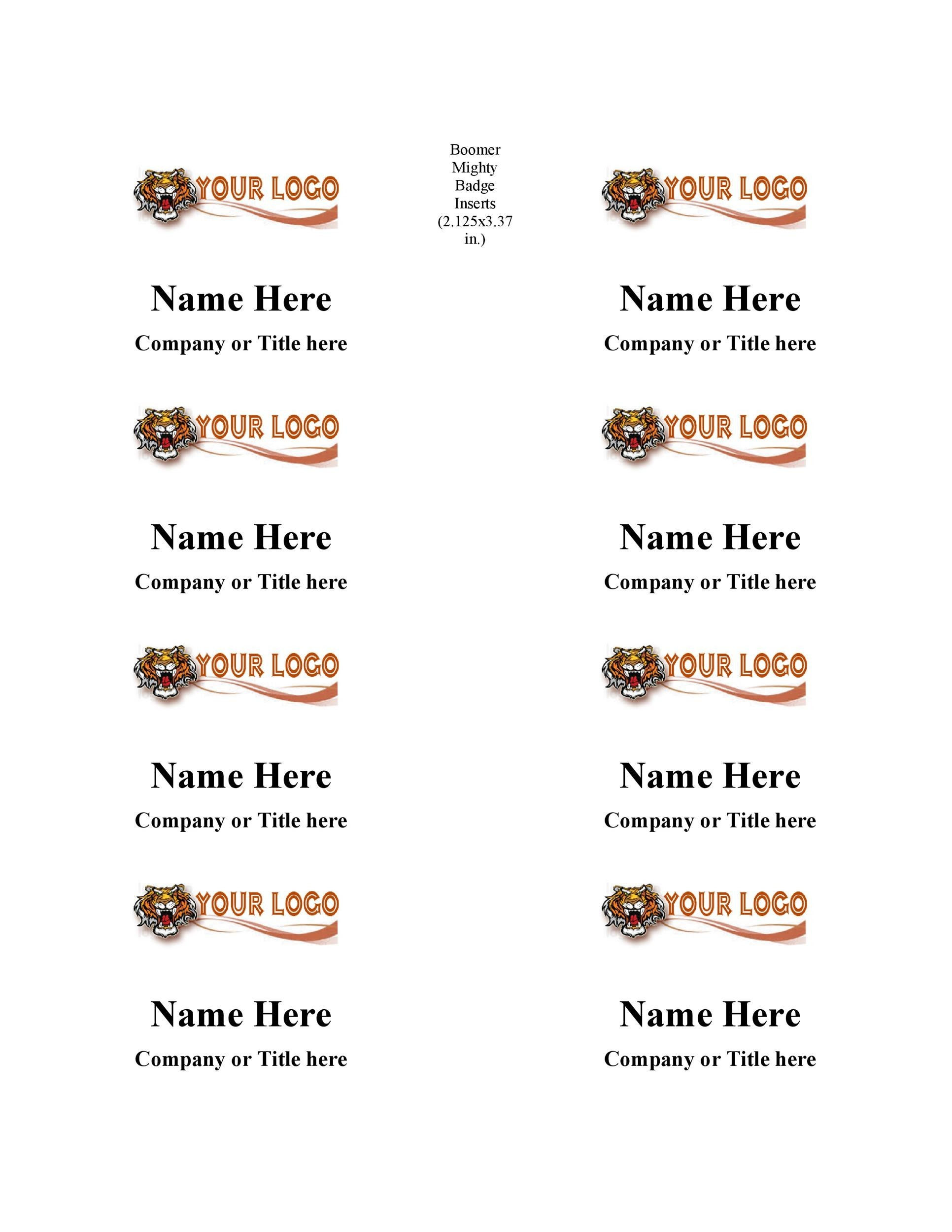 Free name tag template 07