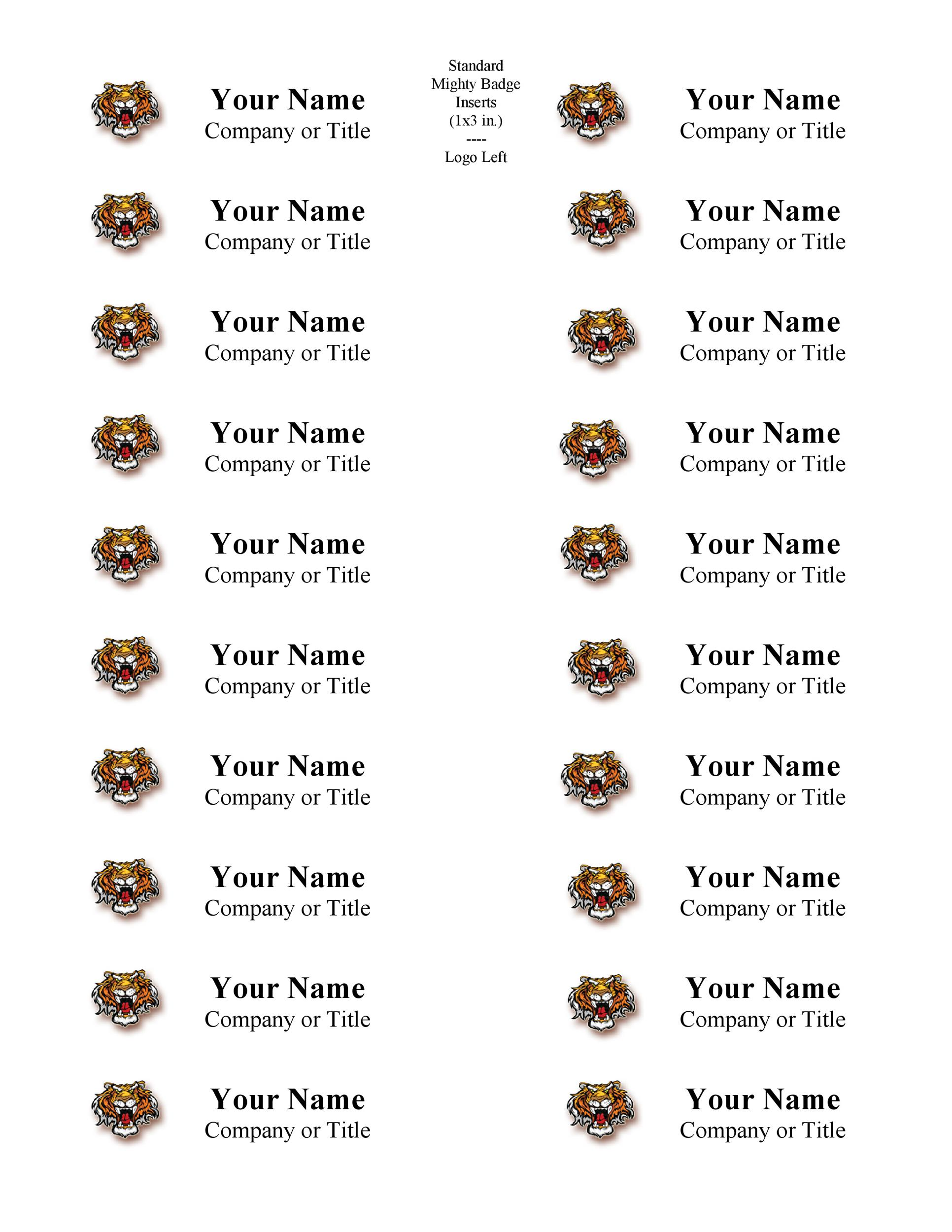 Free Name Tag Badge Templates Template Lab - Name badge template with photo