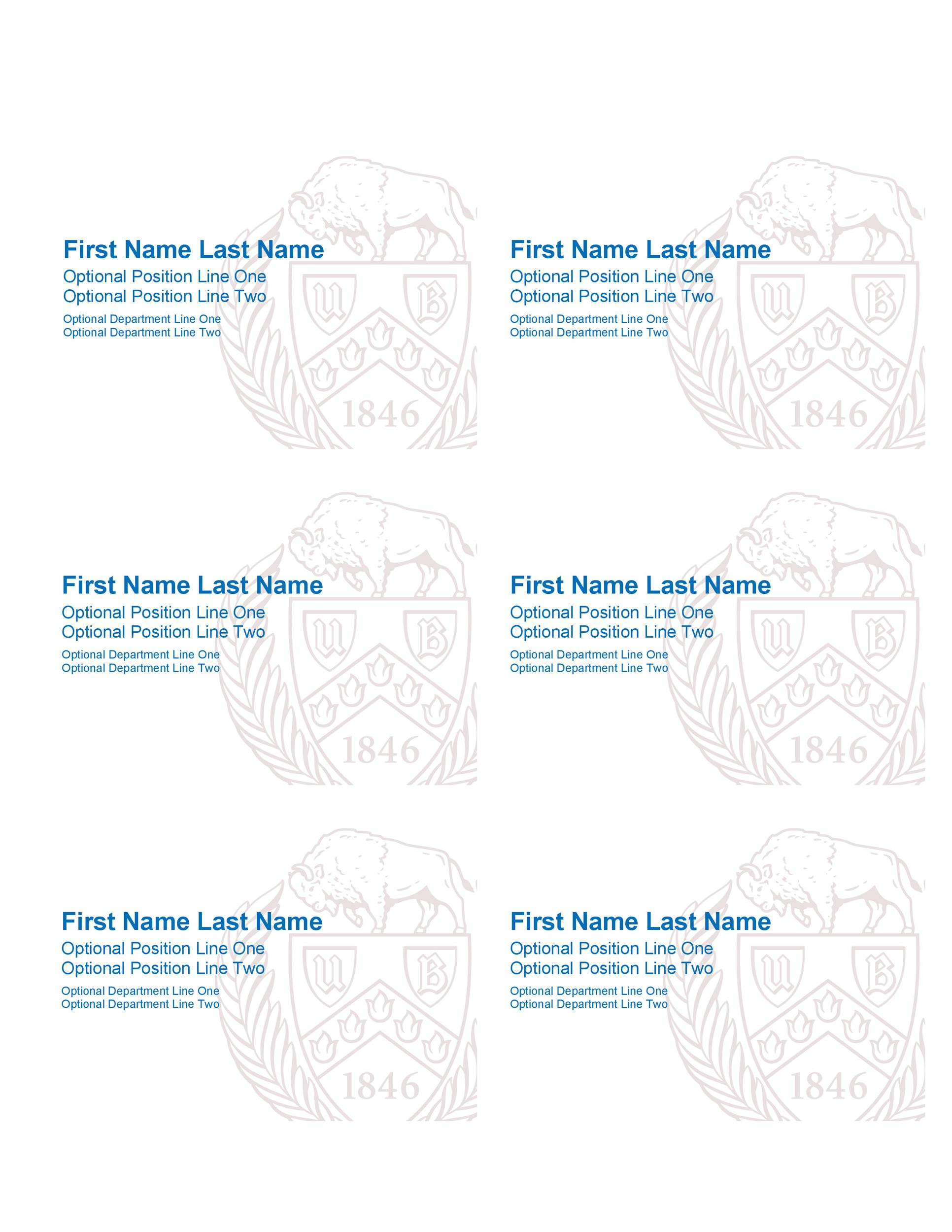 Free name tag template 11