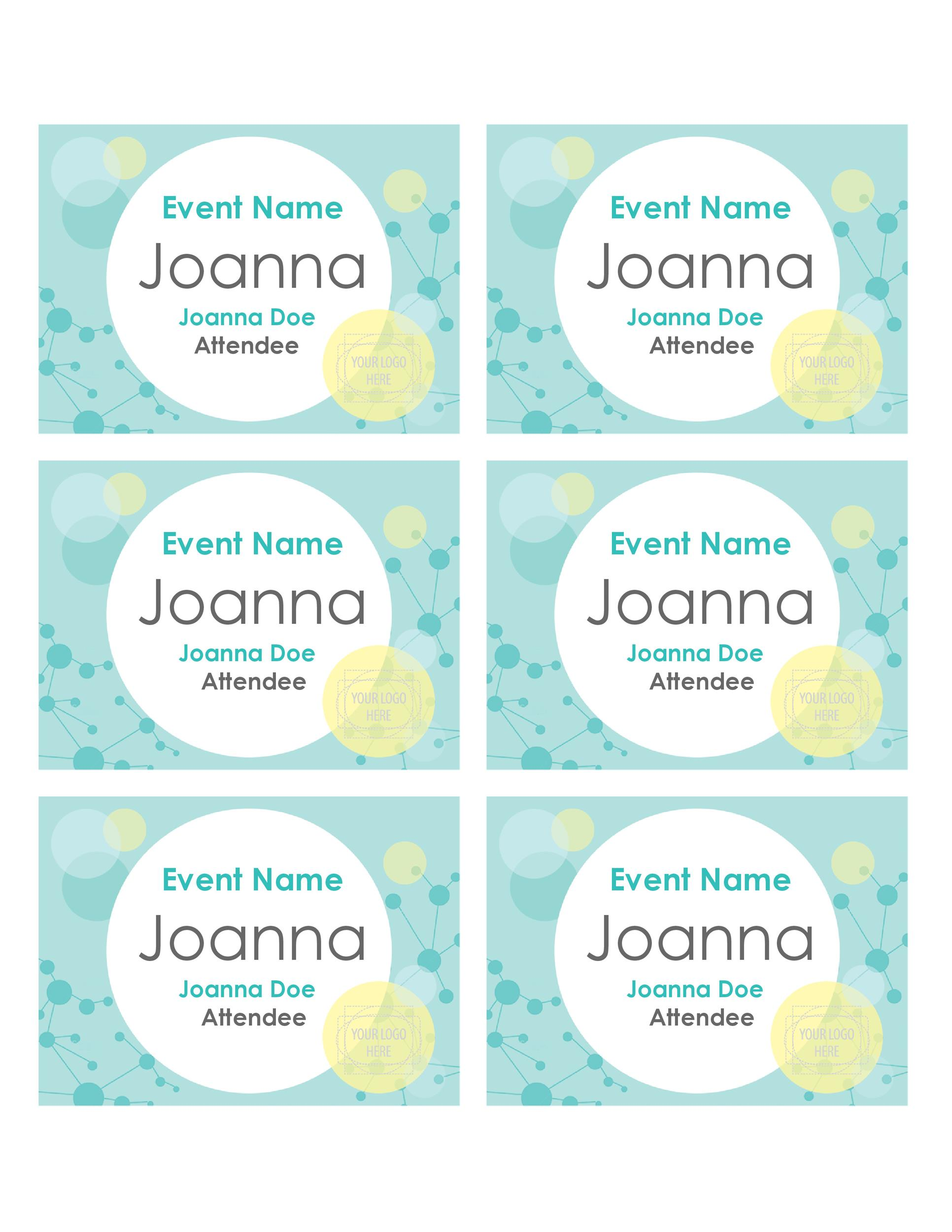 Free name tag template 12