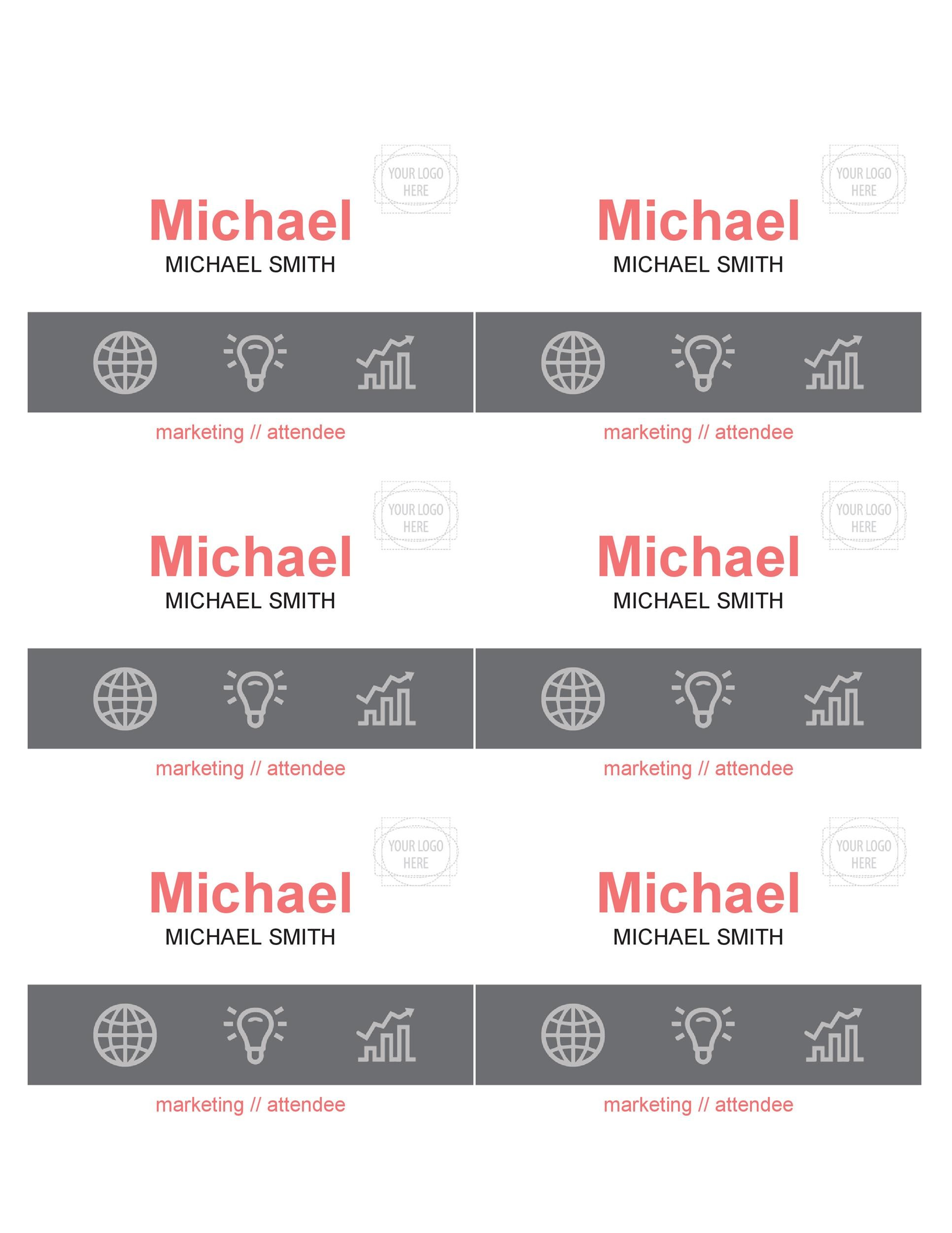 Free name tag template 18