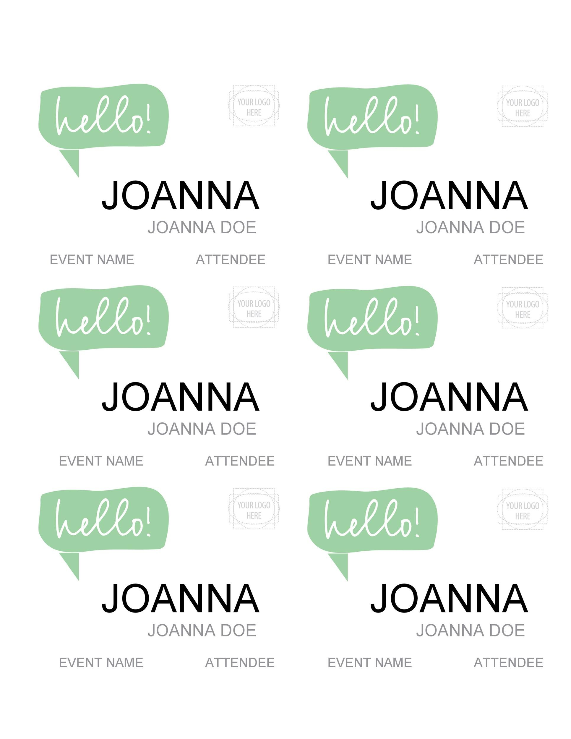 Free name tag template 23