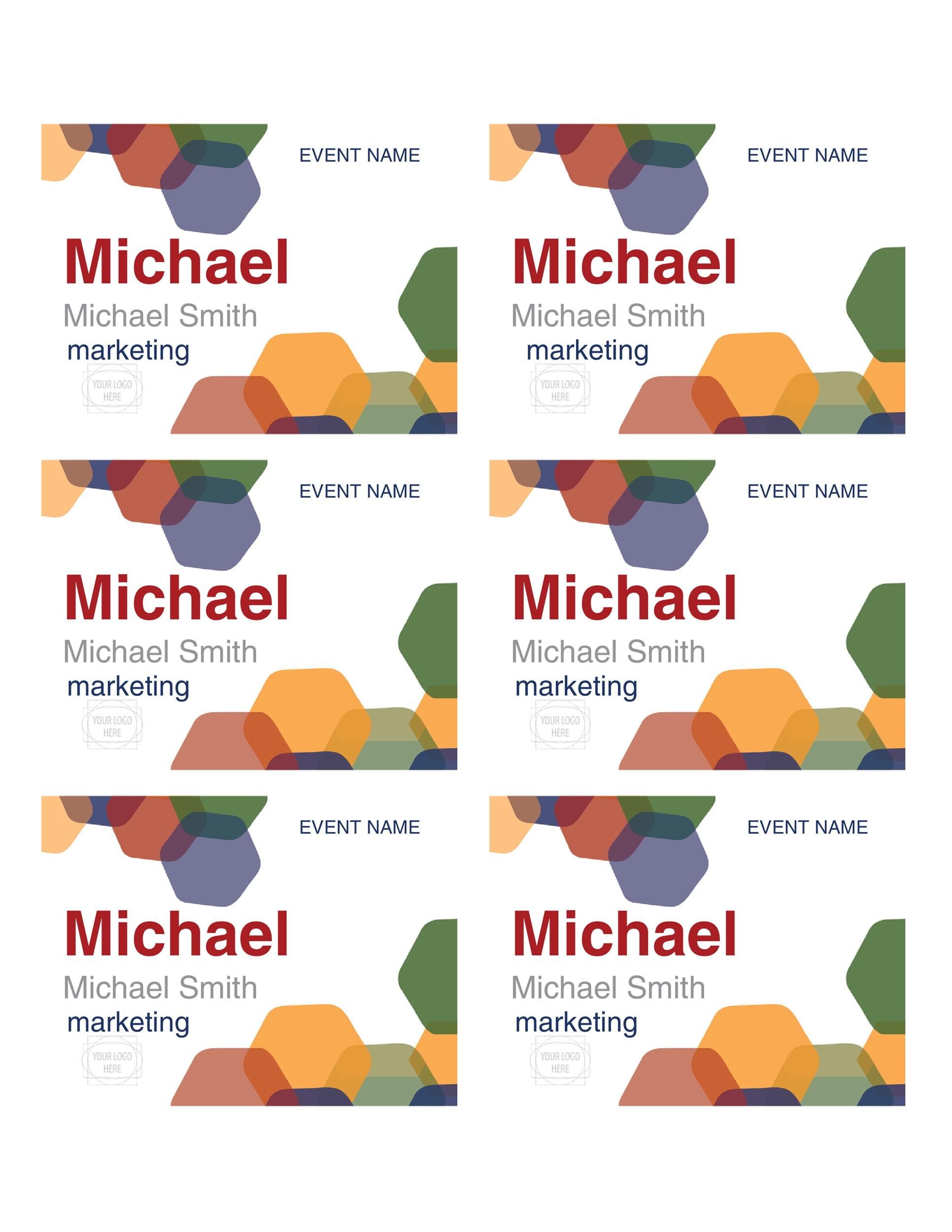 Free name tag template 24