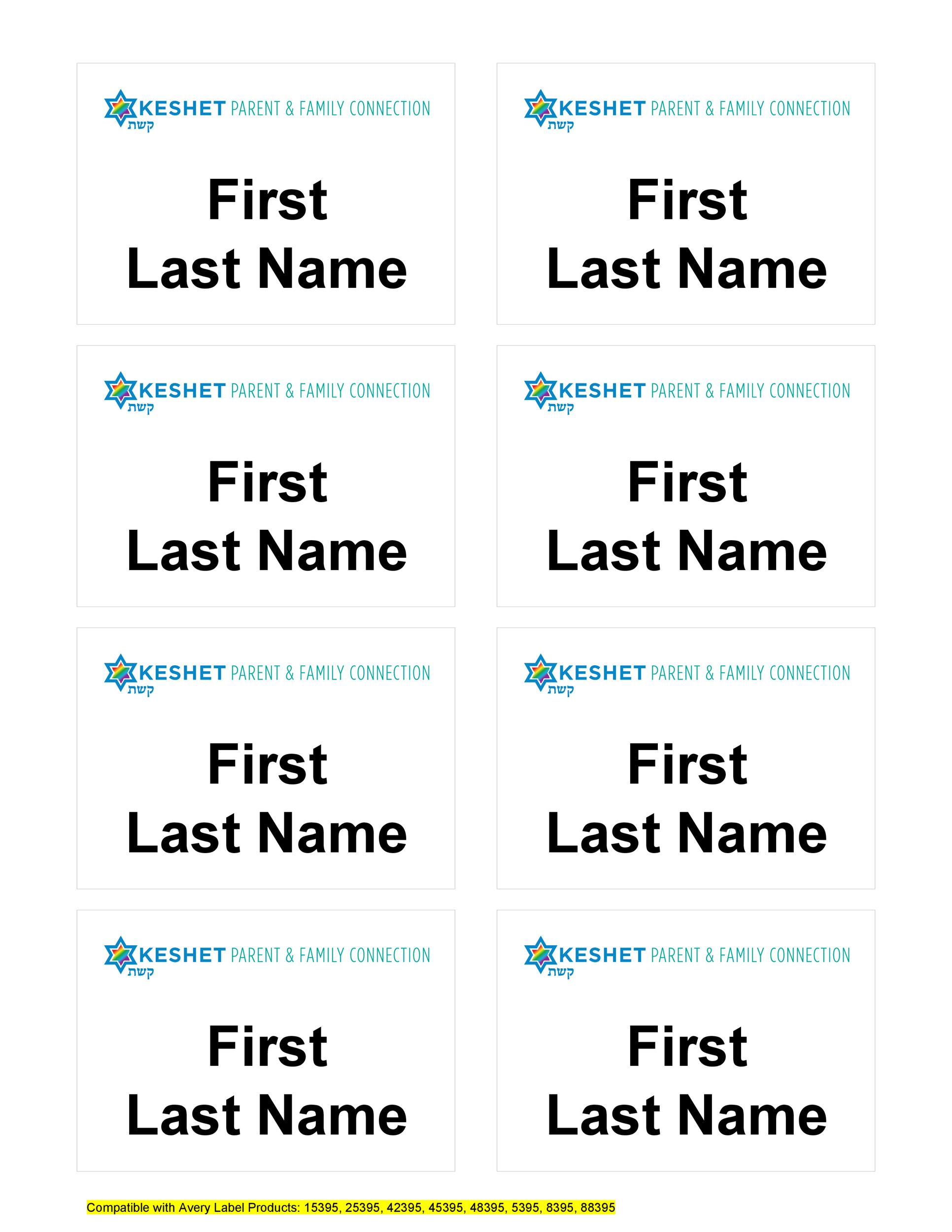 Free name tag template 25