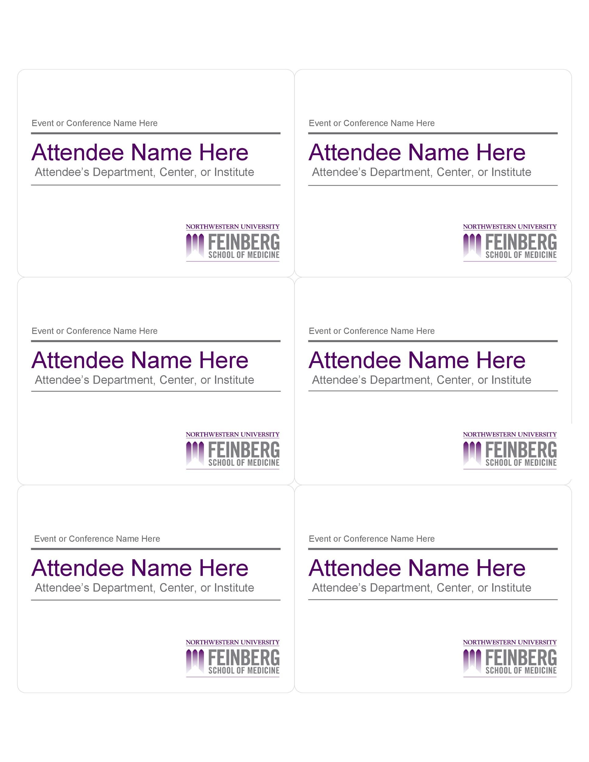 Free name tag template 31