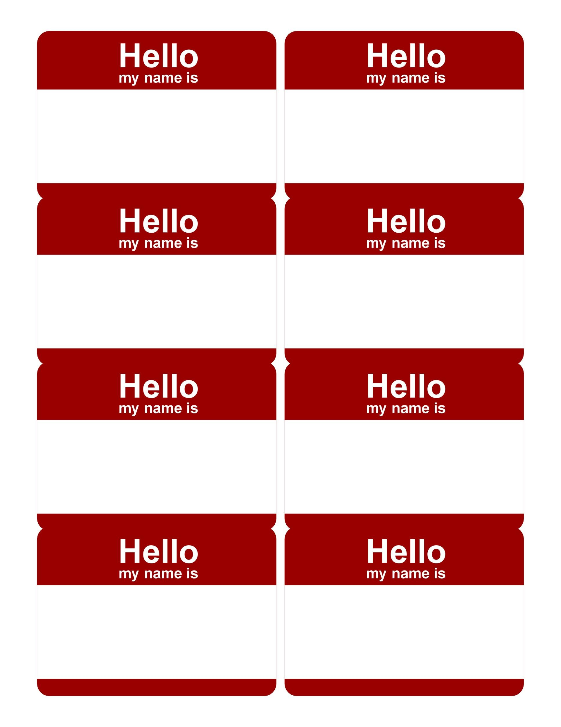 image relating to Name Tags Printable named 47 Absolutely free Popularity Tag + Badge Templates ᐅ Template Lab