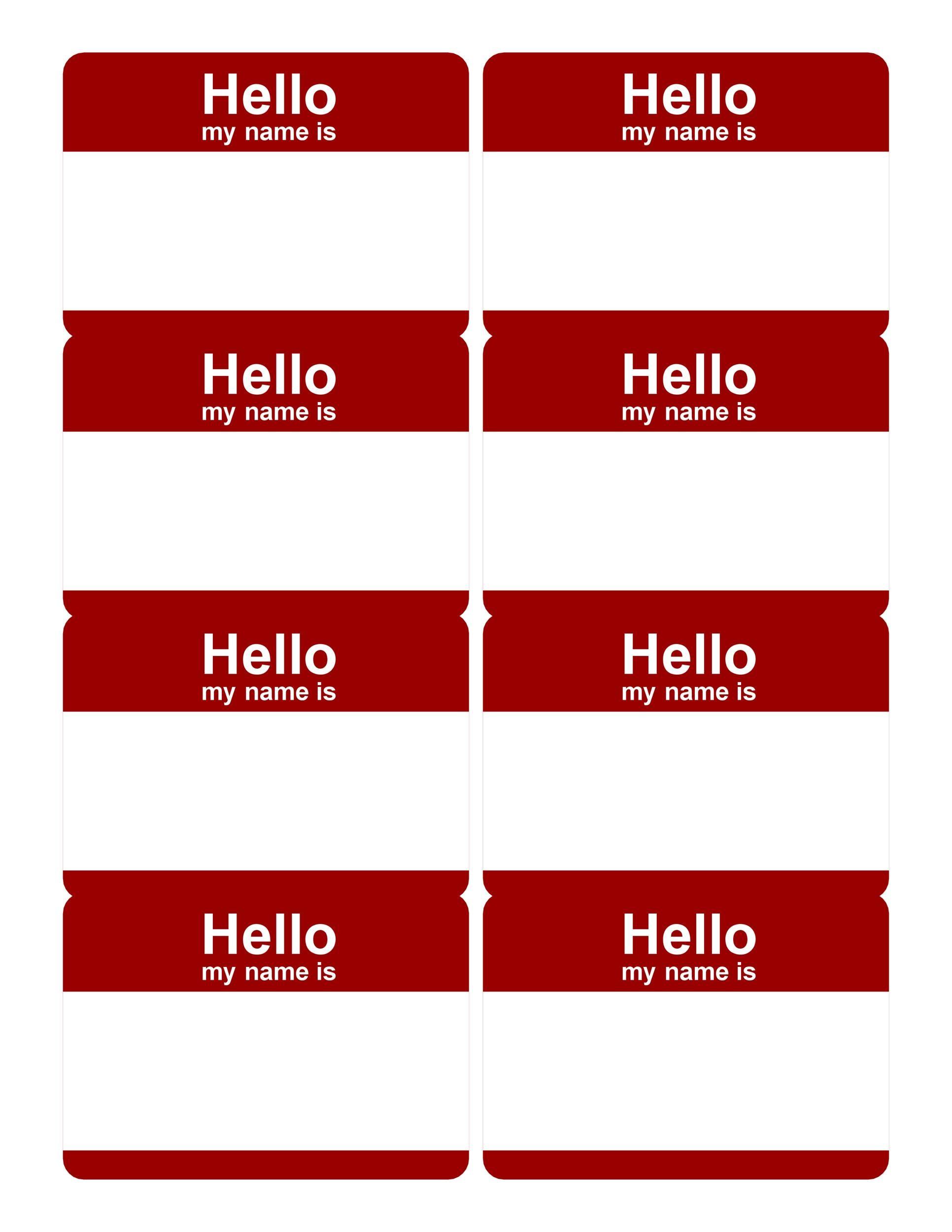 Free name tag template 34