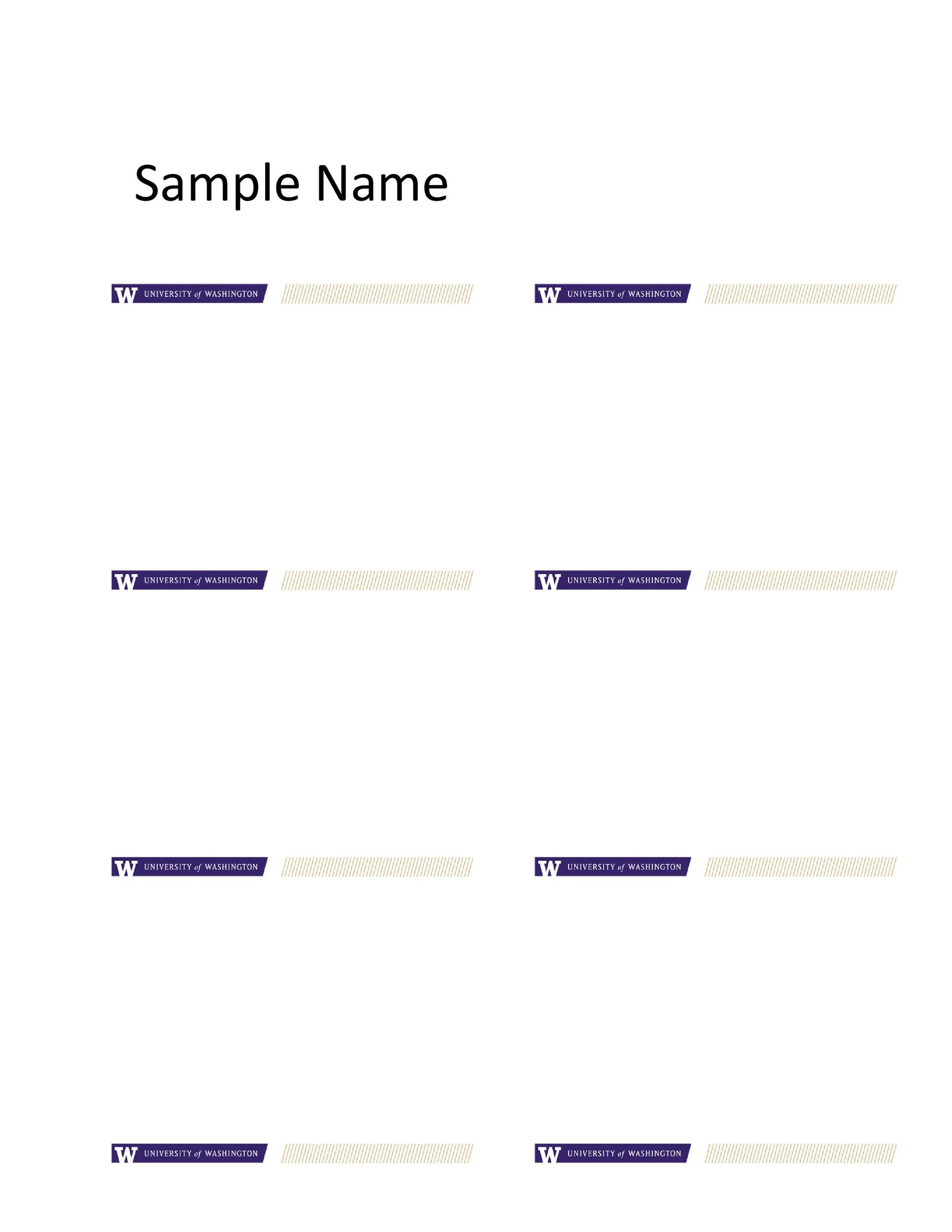 47 Free Name Tag + Badge Templates - Template Lab